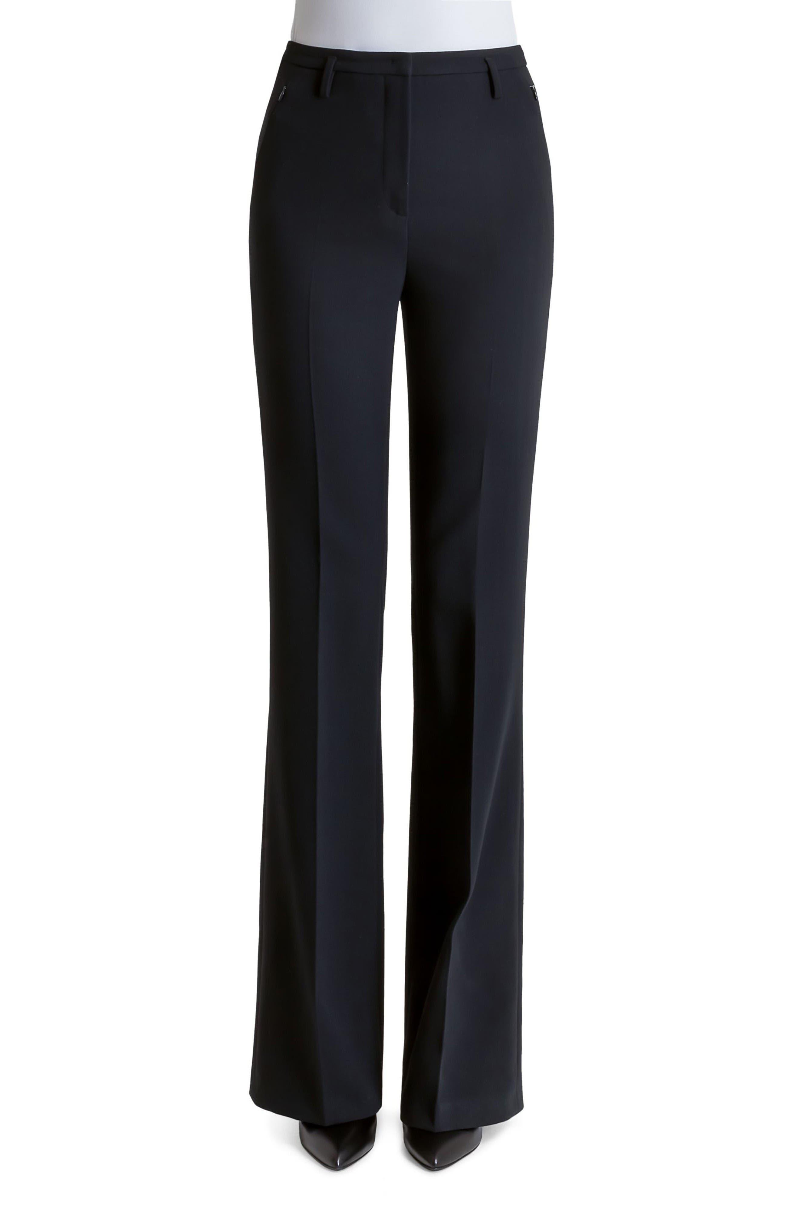 Akris Farrah Stretch Wool Flare Pants