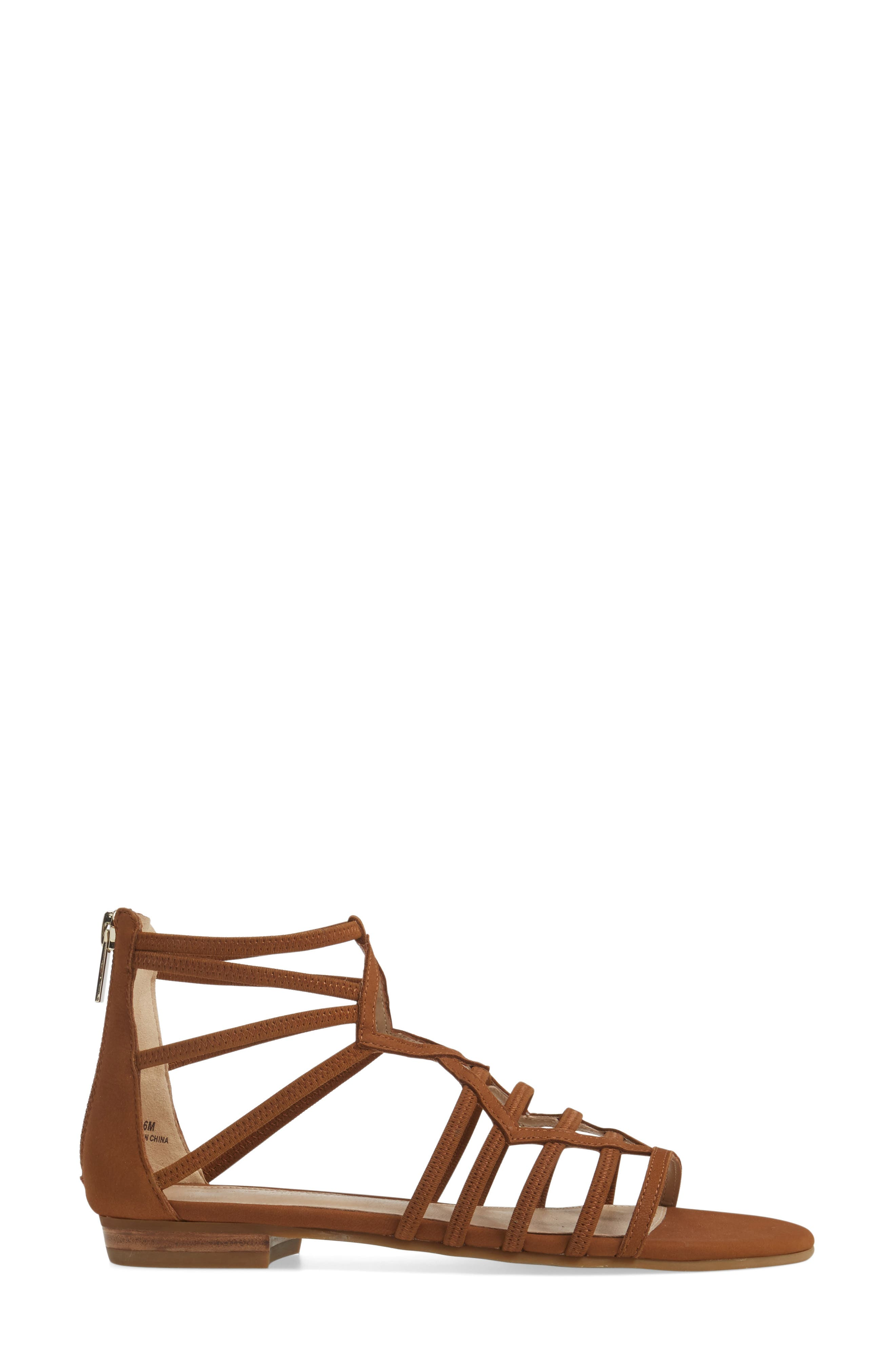 Brazil Strappy Sandal,                             Alternate thumbnail 3, color,                             Luggage Leather