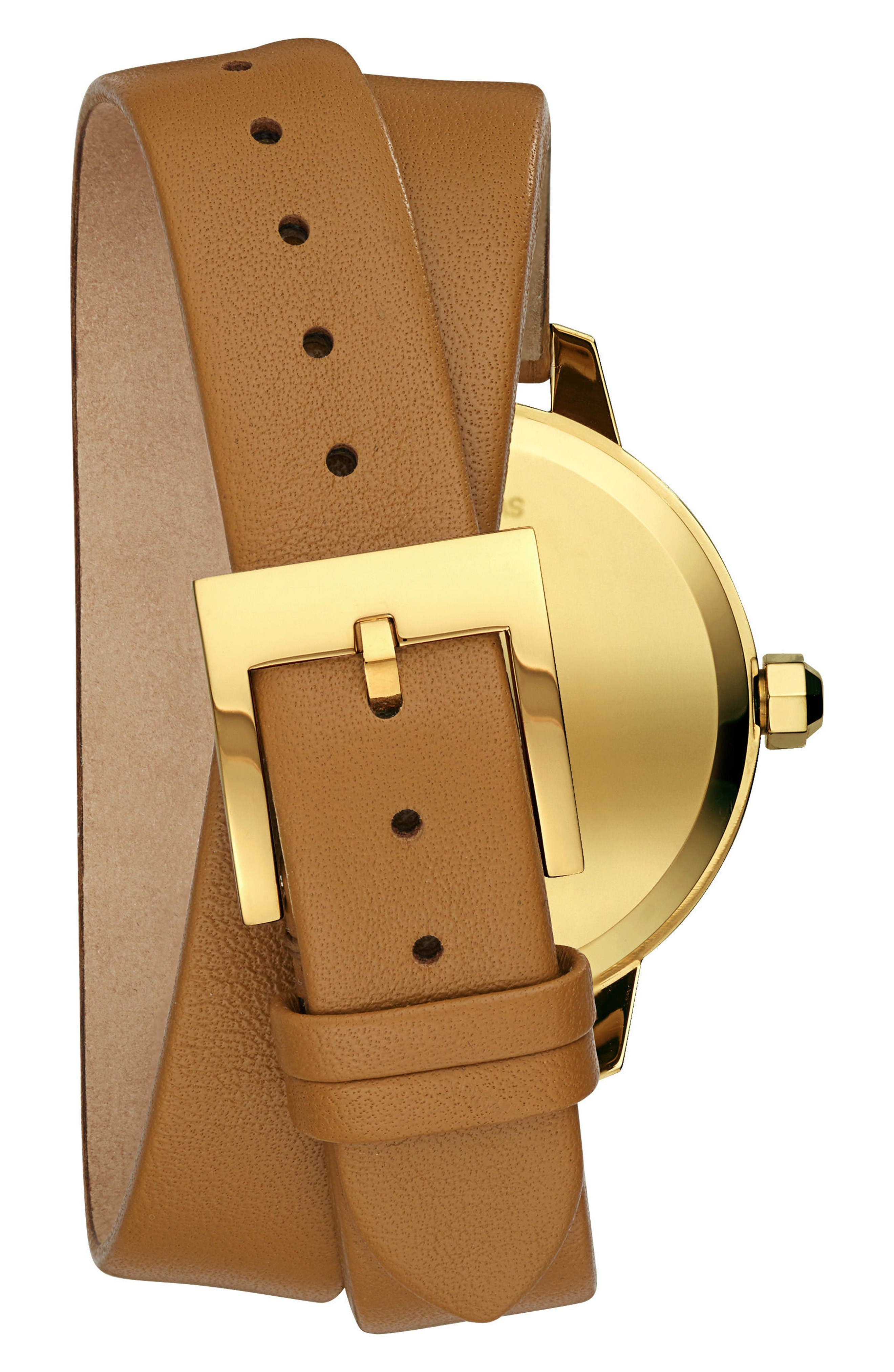 Alternate Image 2  - Tory Burch Collins Double Wrap Leather Strap Watch, 38mm