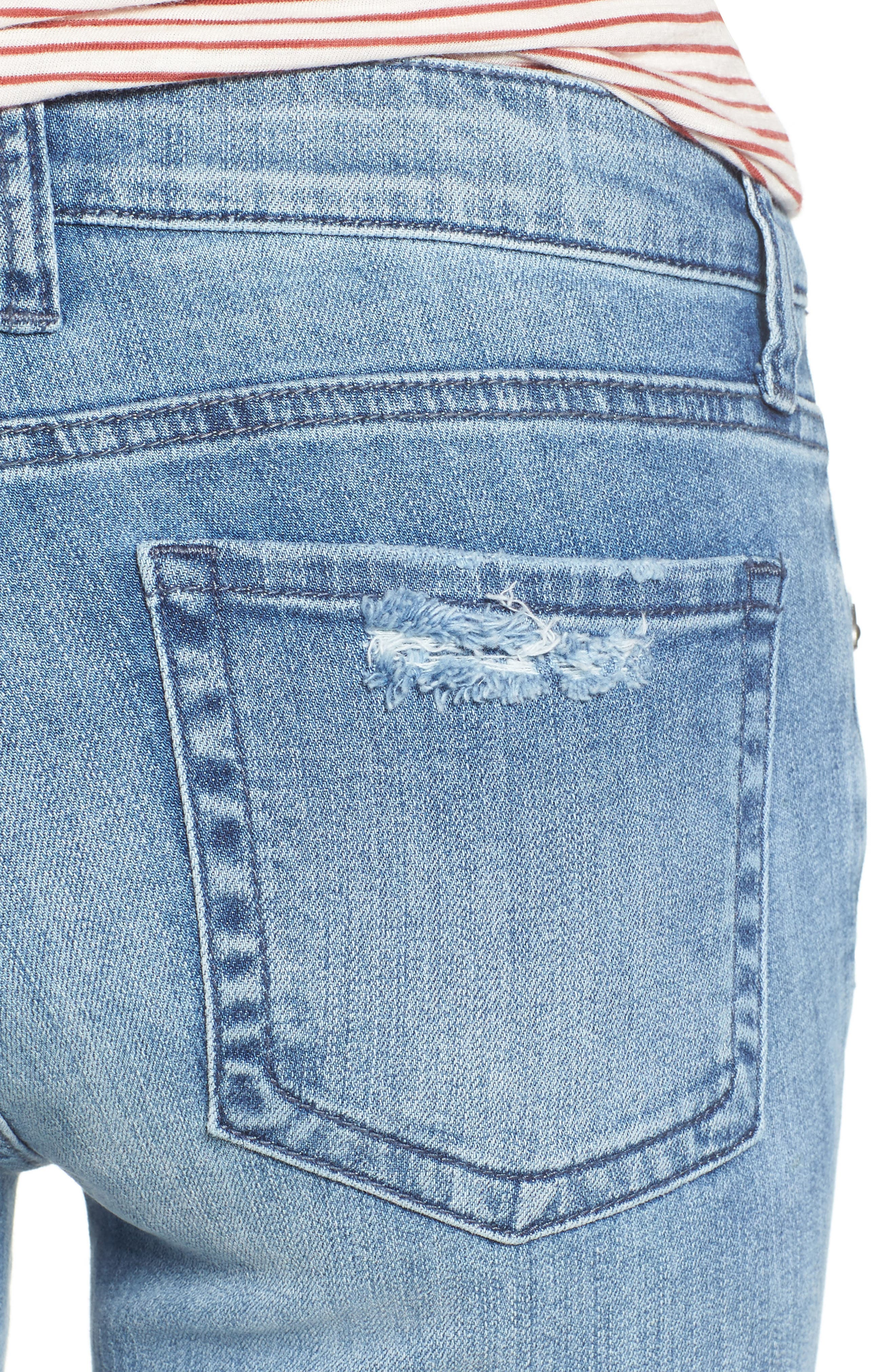 Alternate Image 4  - KUT from the Kloth Catherine Ripped & Repaired Boyfriend Jeans (Novel)