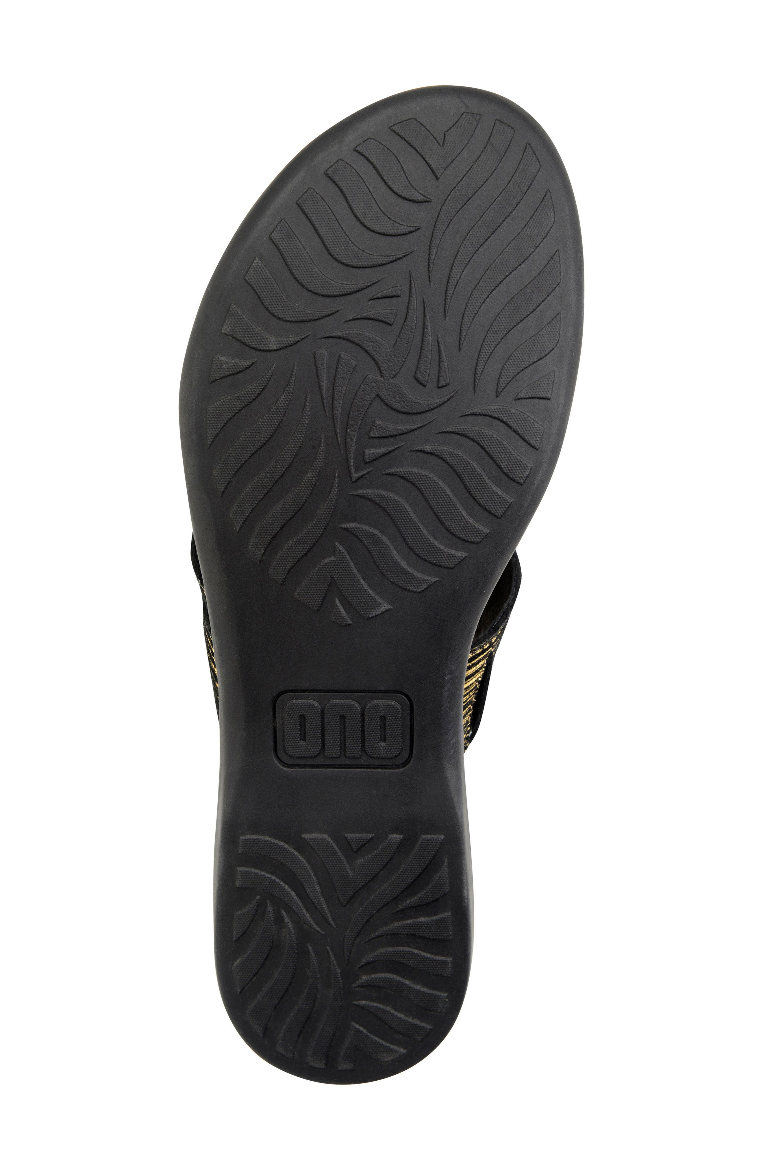 Kia Sandal,                             Alternate thumbnail 4, color,                             Black/ Gold Leather