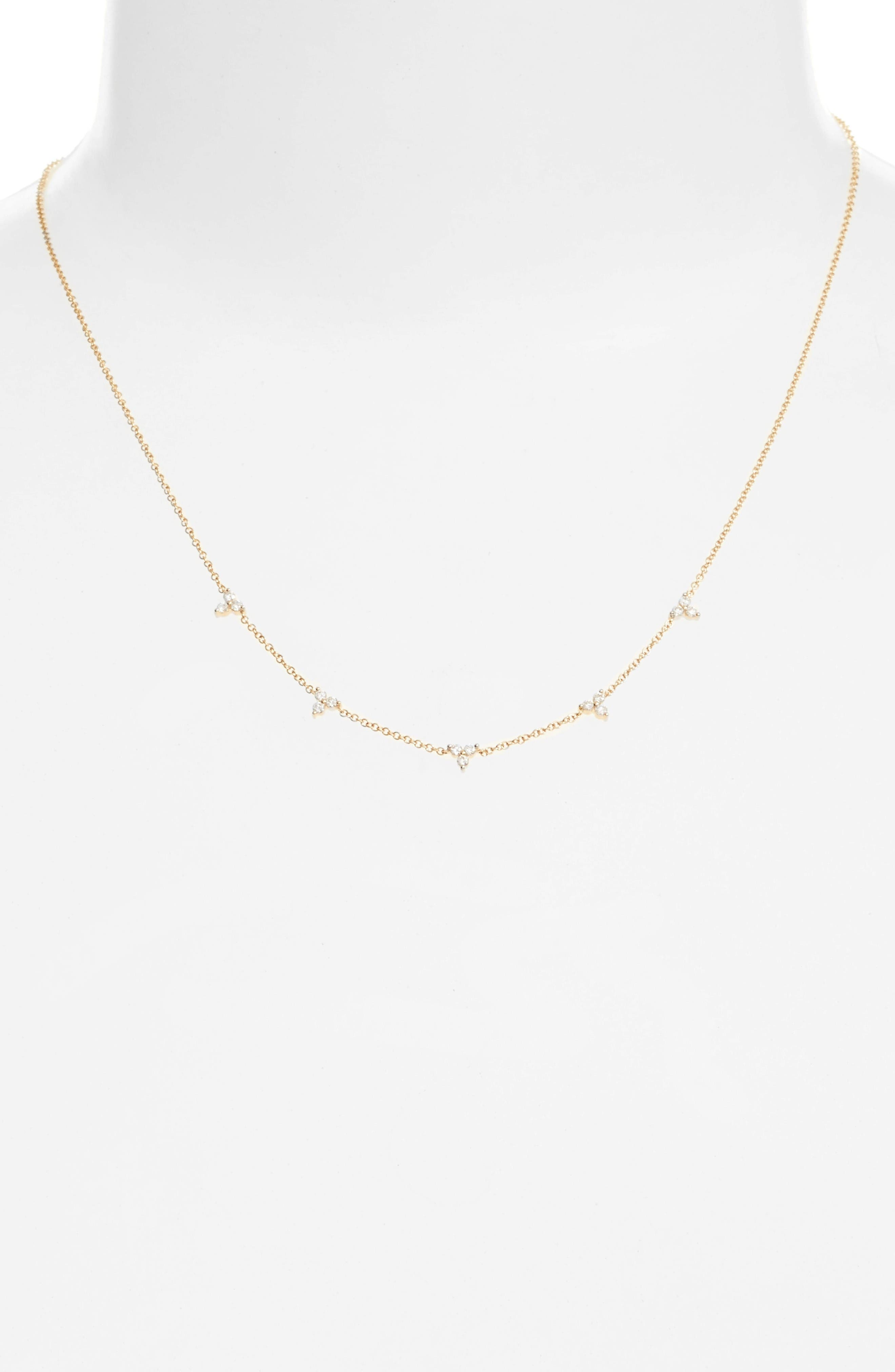 Diamond Necklace,                             Main thumbnail 1, color,                             Yellow Gold
