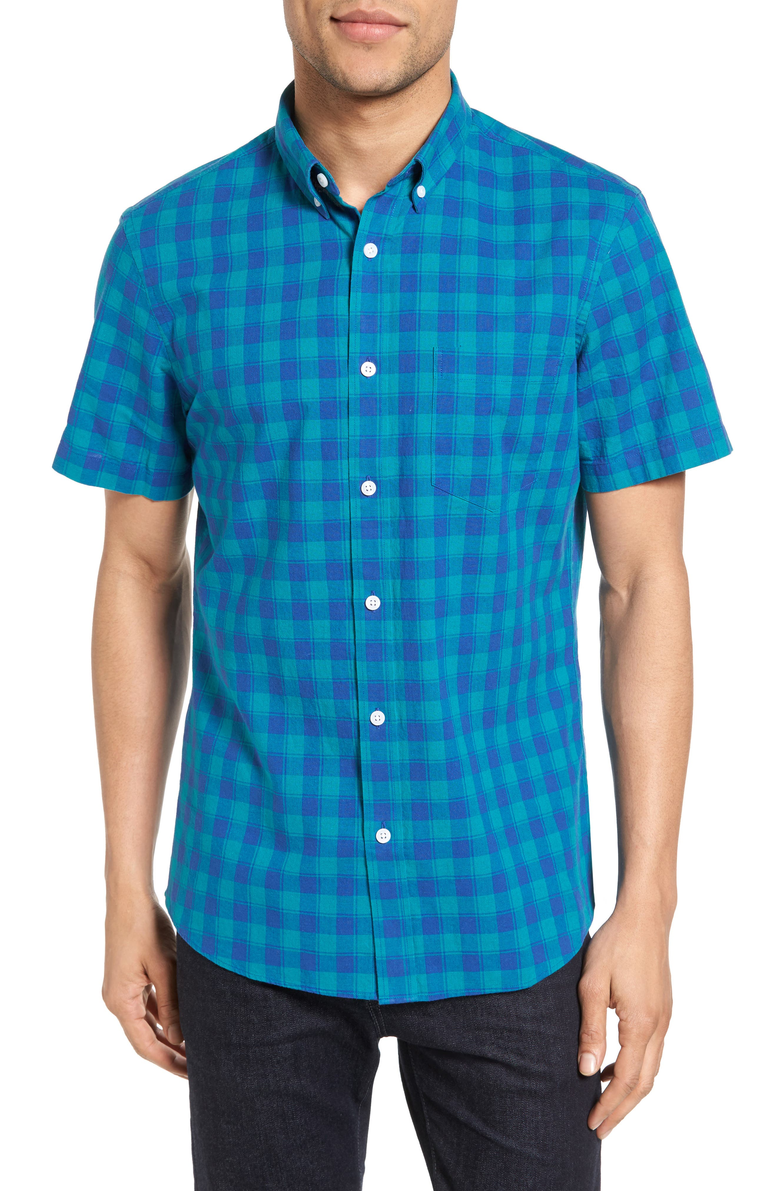 NORDSTROM MENS SHOP Slim Fit Check Sport Shirt
