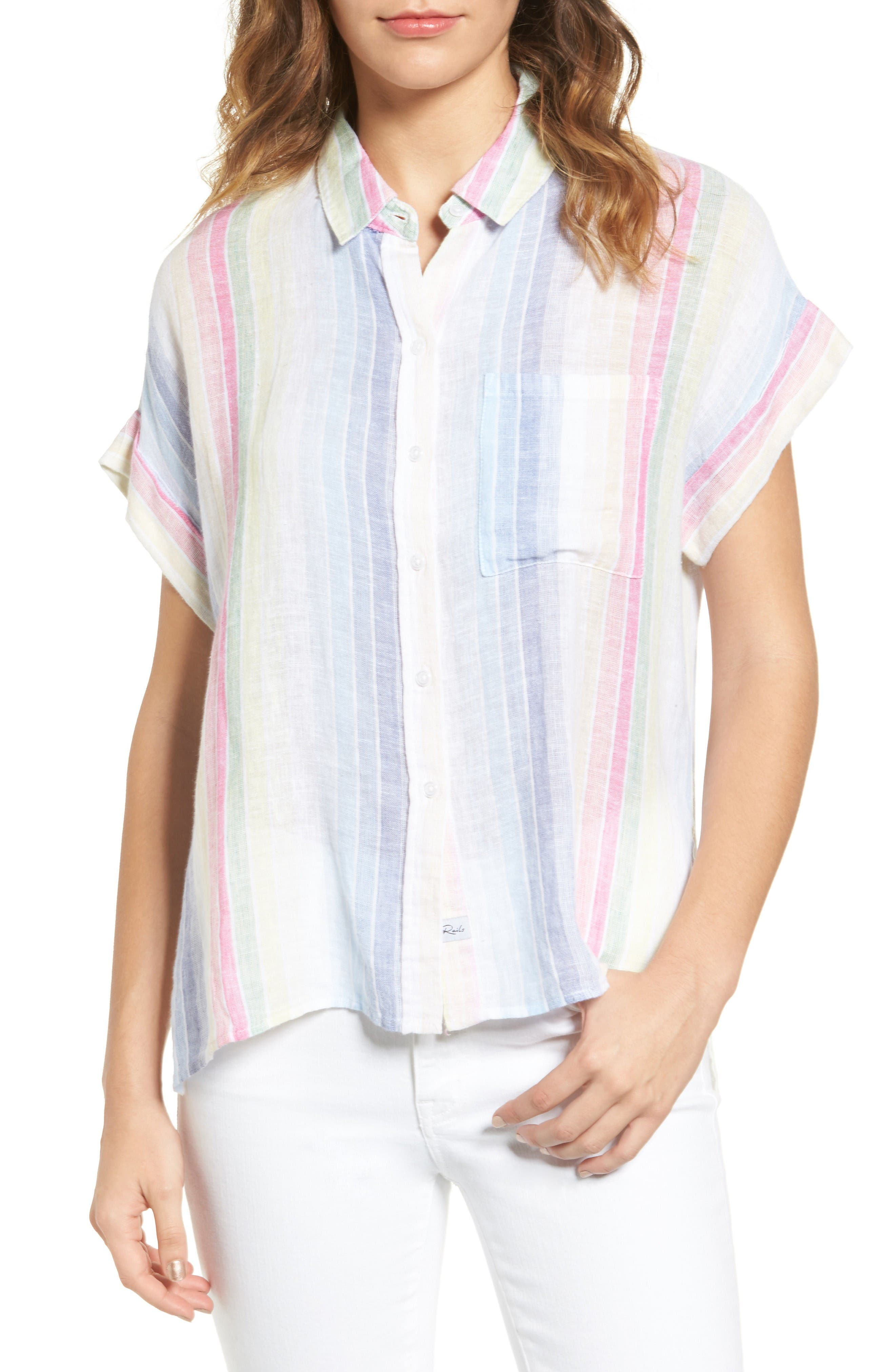 Rails Whitney Linen Blend Shirt