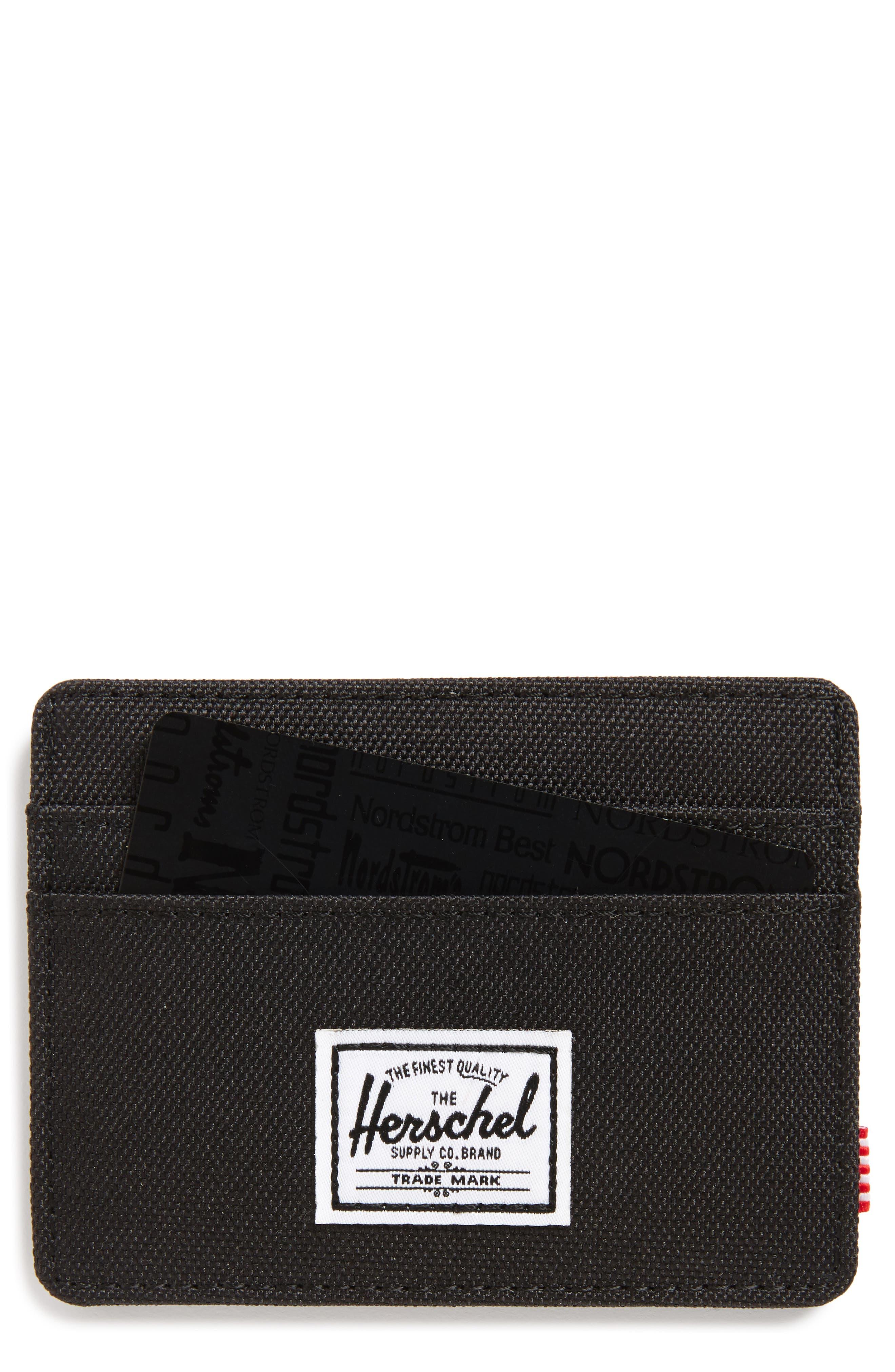 Charlie RFID Card Case,                             Main thumbnail 1, color,                             Black