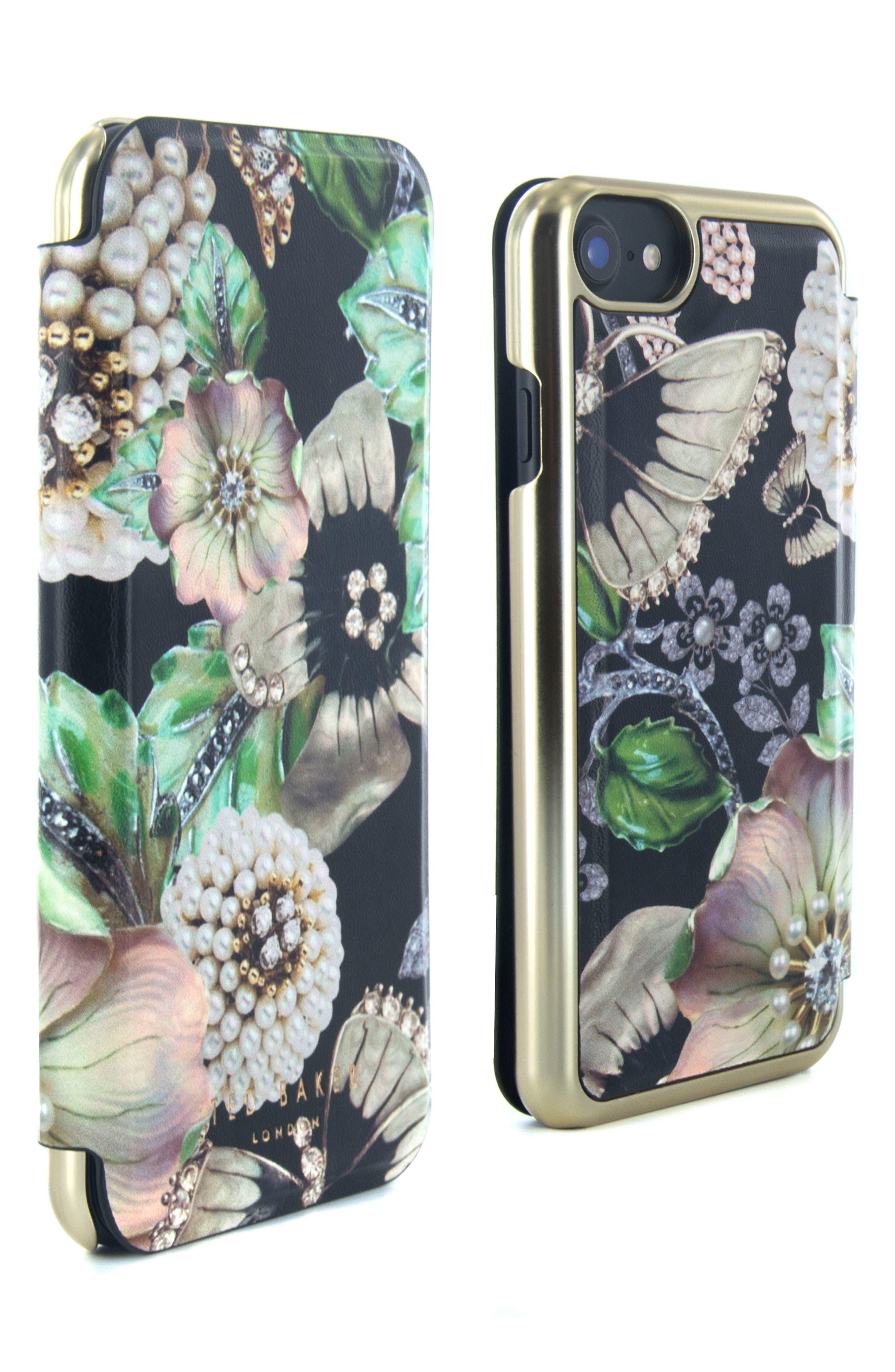 Clarna iPhone 6/6s/7/8 & 6/6s/7/8 Plus Mirror Folio Case,                             Alternate thumbnail 4, color,                             Multi