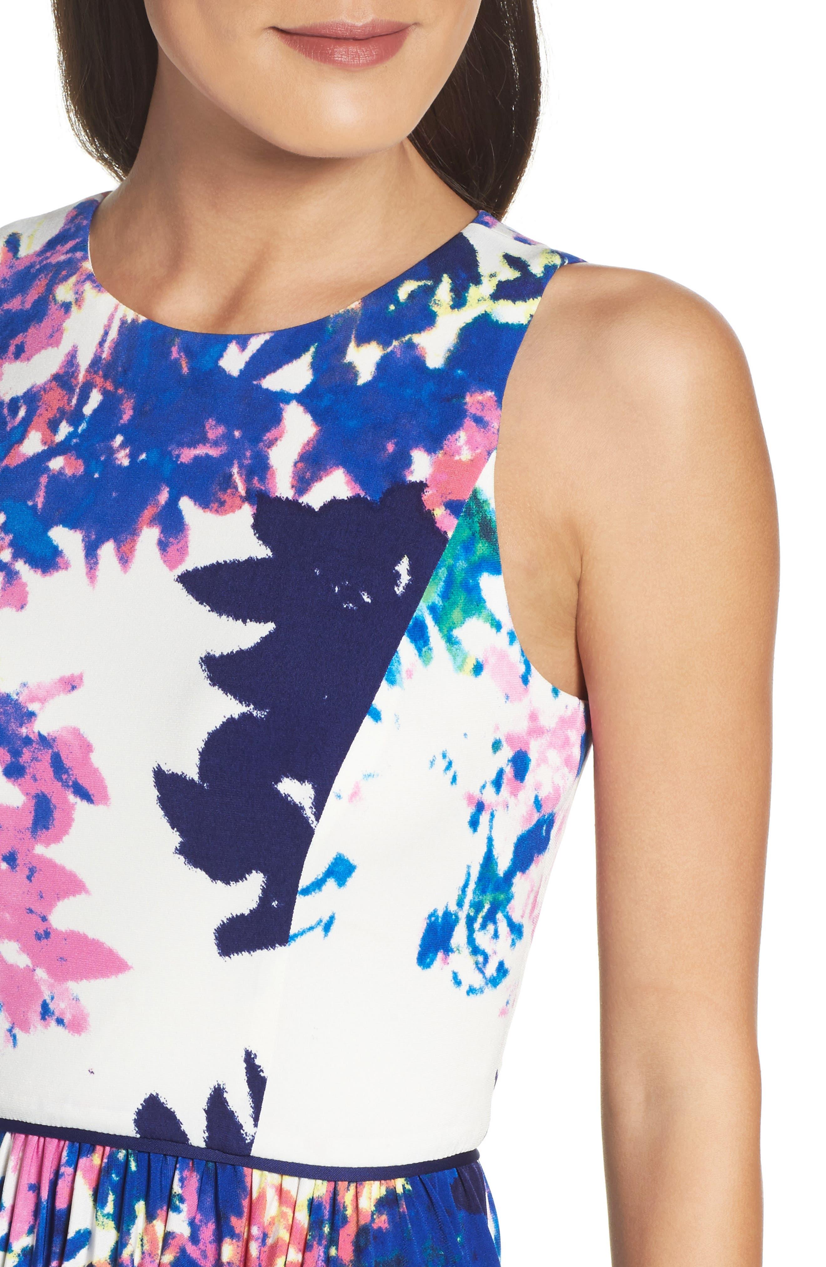 Alternate Image 5  - Maggy London Stretch Fit & Flare Dress (Regular & Petite)