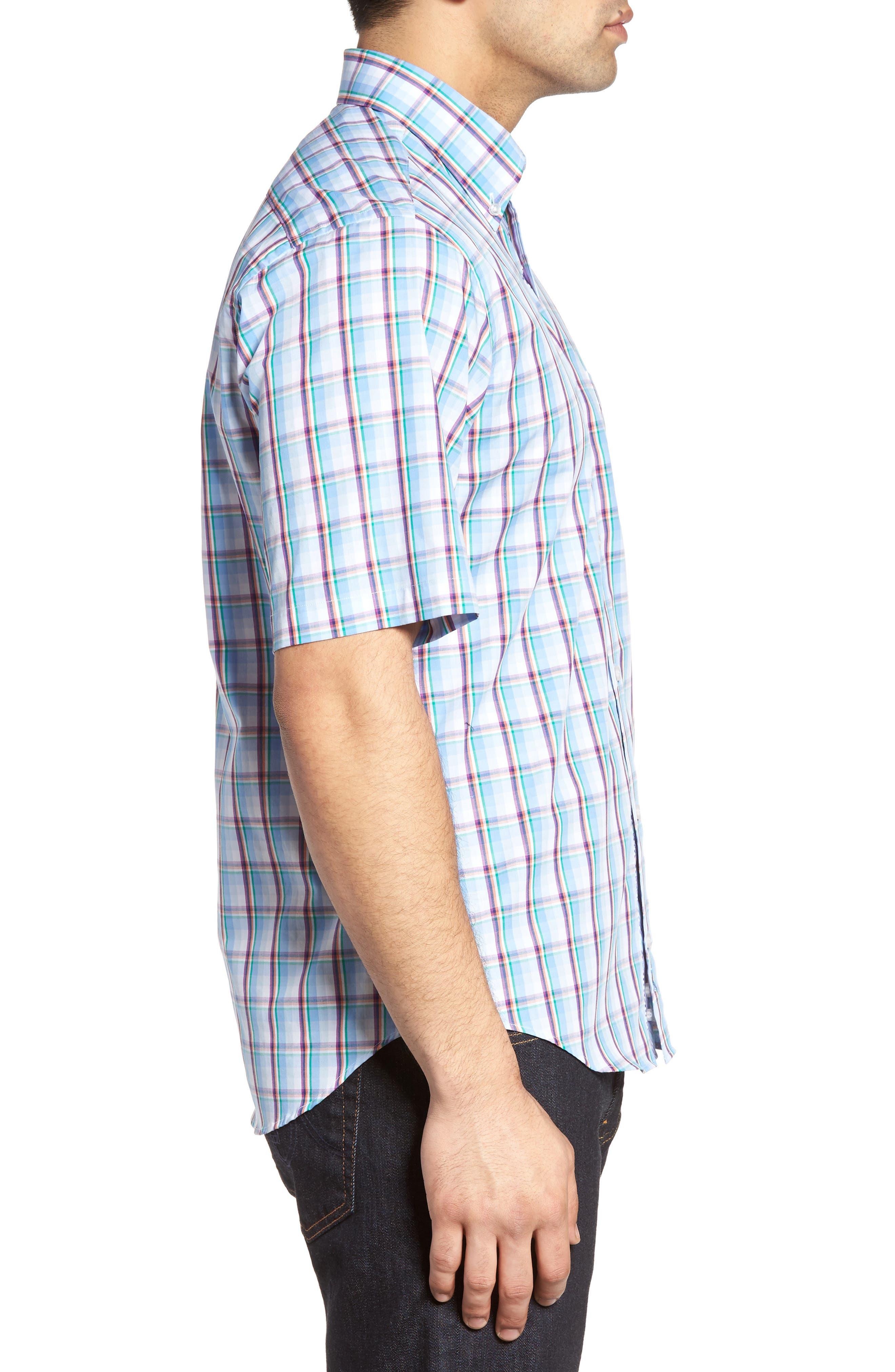 Alternate Image 3  - TailorByrd Pinyon Plaid Sport Shirt