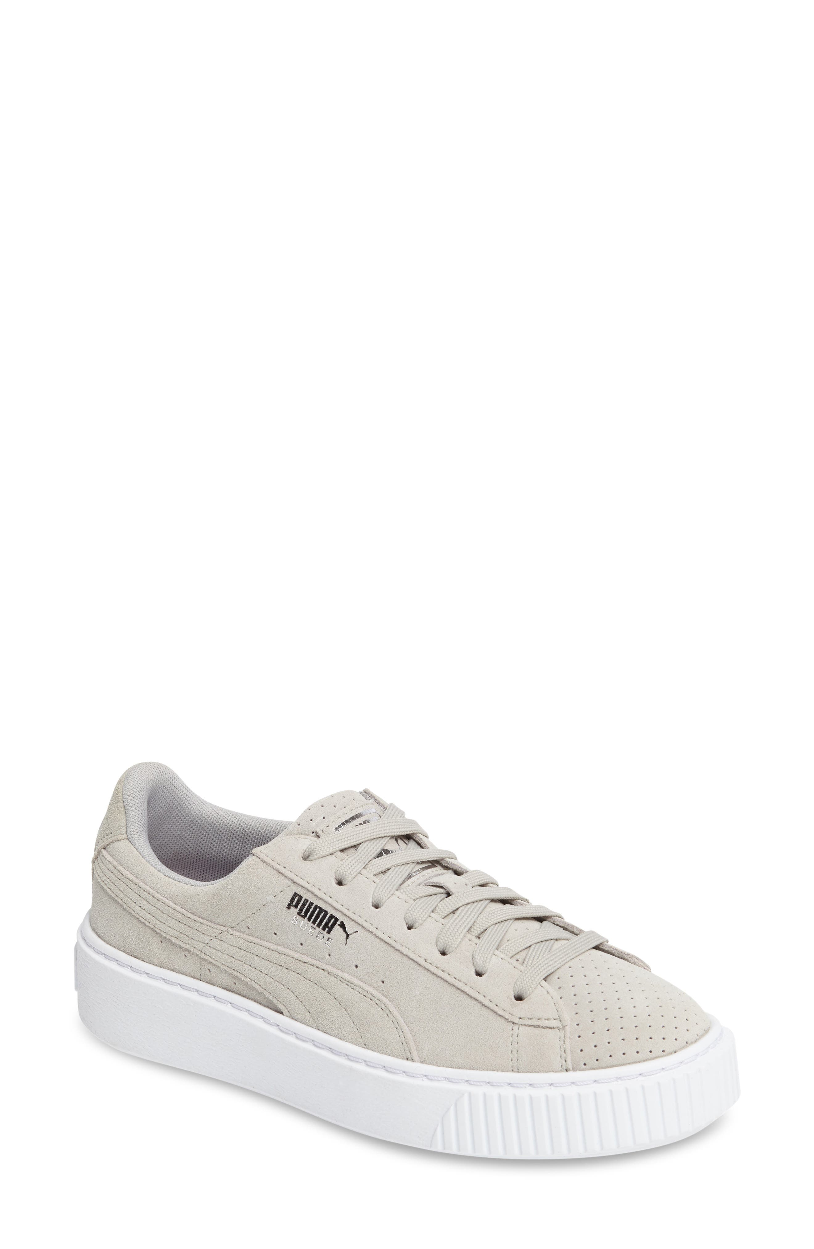 Basket Platform Sneaker,                             Main thumbnail 1, color,                             Grey Violet/ Silver