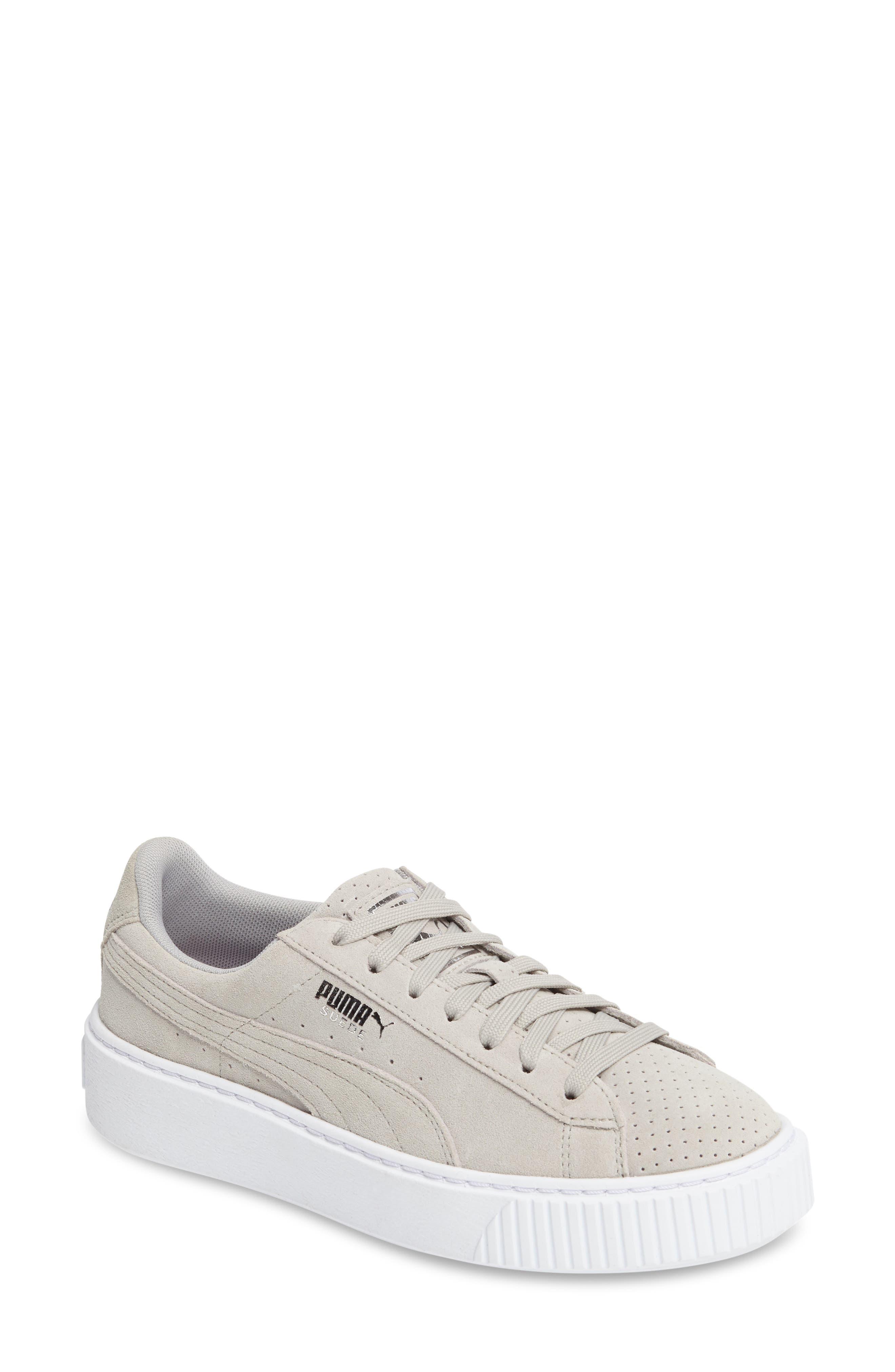 Basket Platform Sneaker,                         Main,                         color, Grey Violet/ Silver