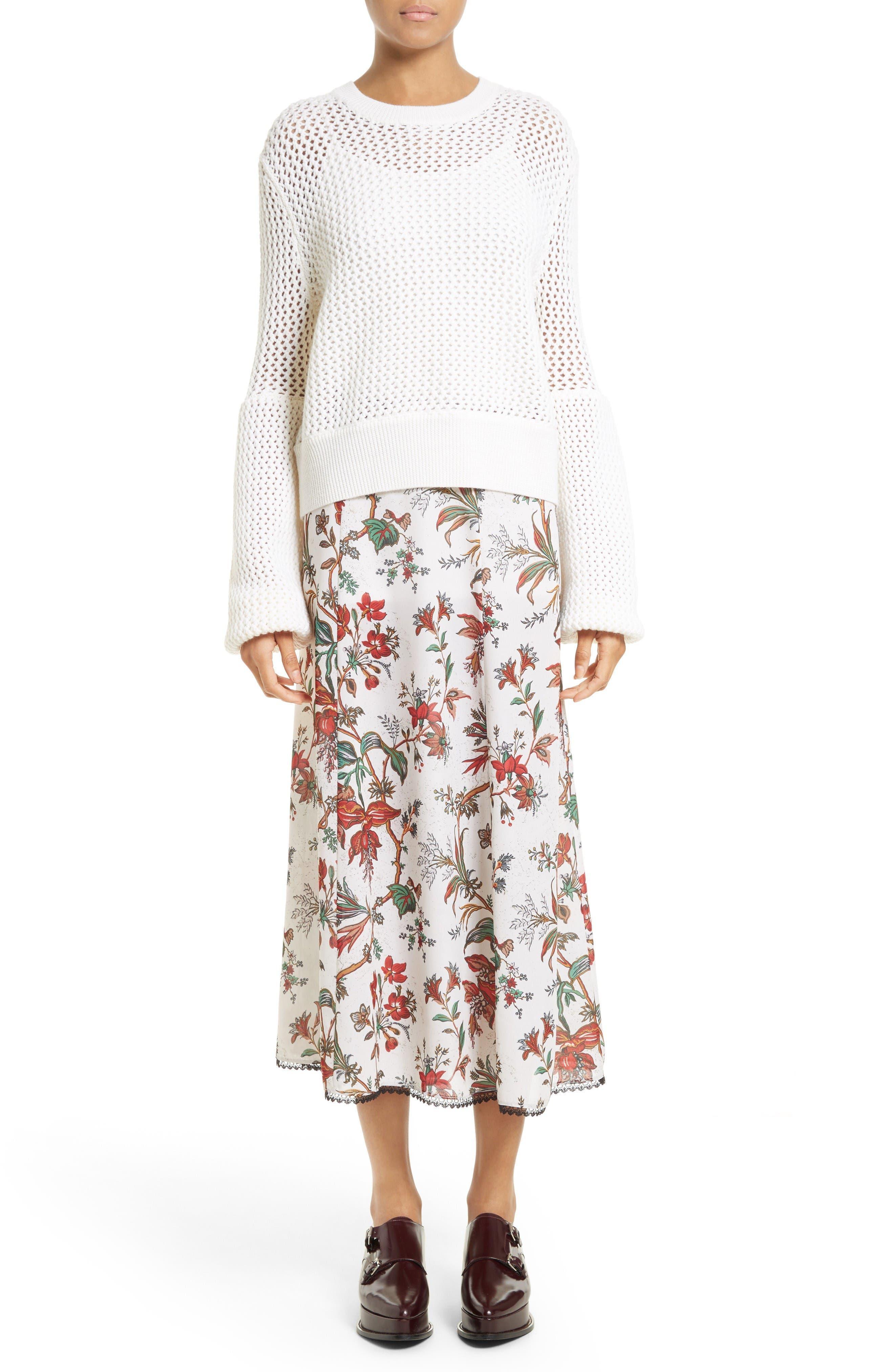 Alternate Image 2  - McQ Alexander McQueen Floral Print Skirt