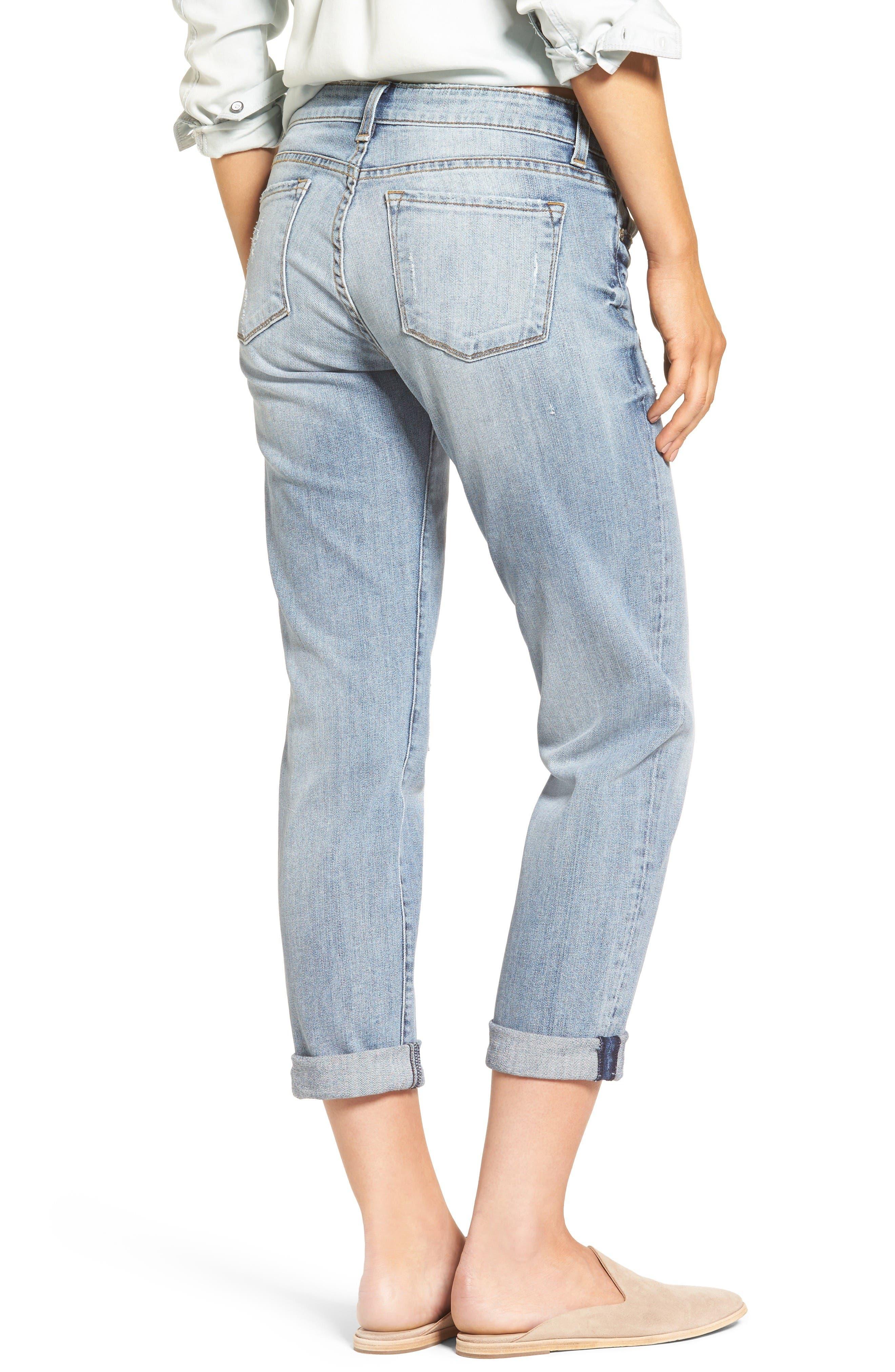 Alternate Image 2  - KUT from the Kloth Catherine Distressed Boyfriend Jeans (Regarded) (Regular & Petite)