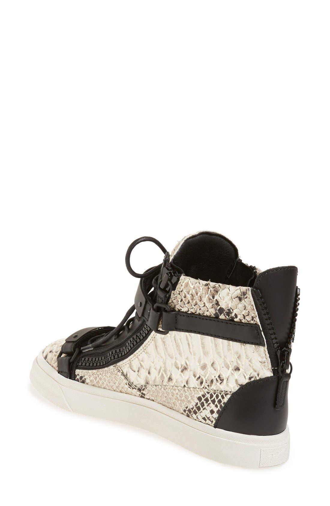 Alternate Image 2  - Giuseppe Zanotti 'London' High Top Sneaker (Women)
