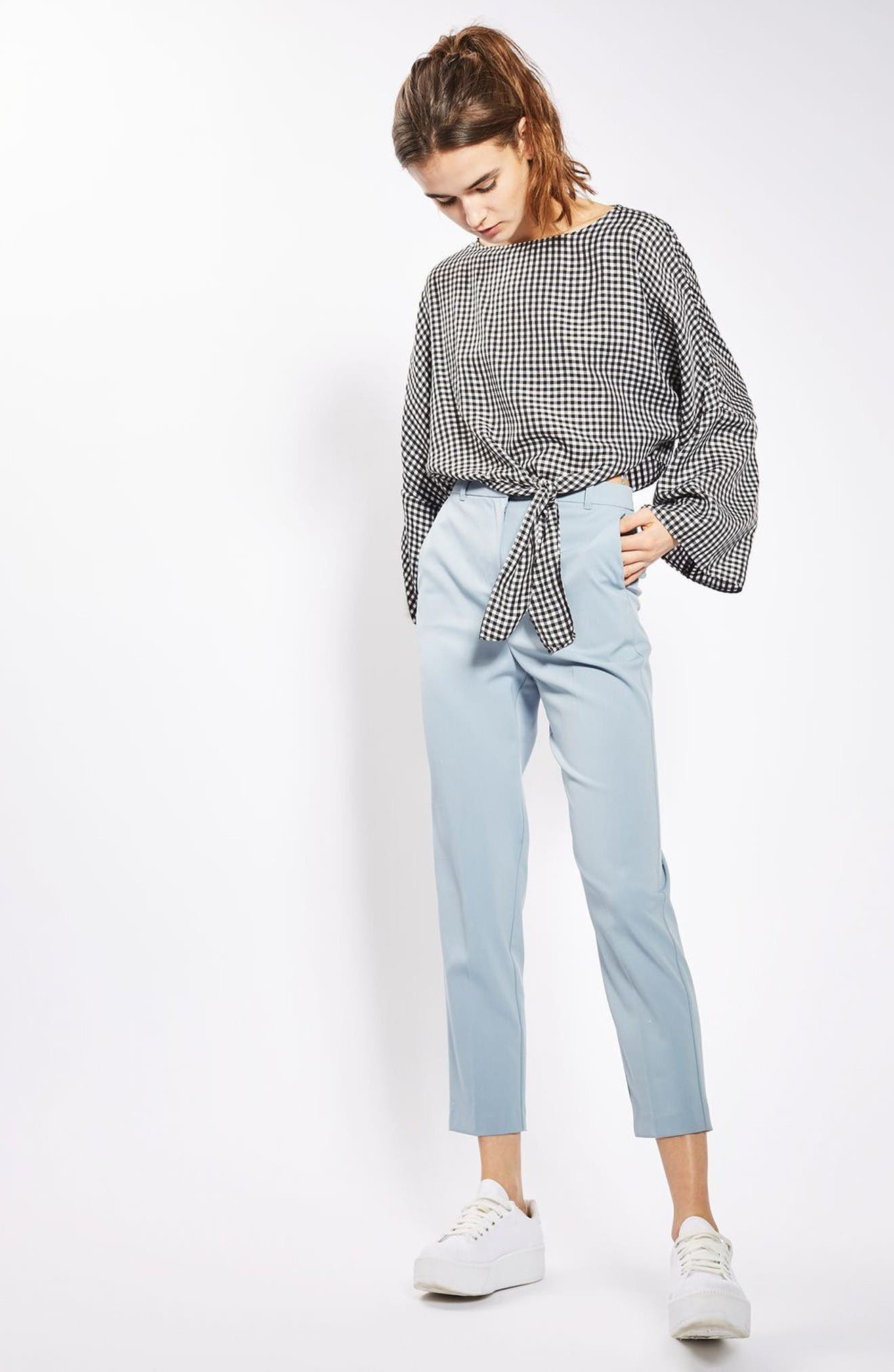 Alternate Image 2  - Topshop Knot Gingham Top
