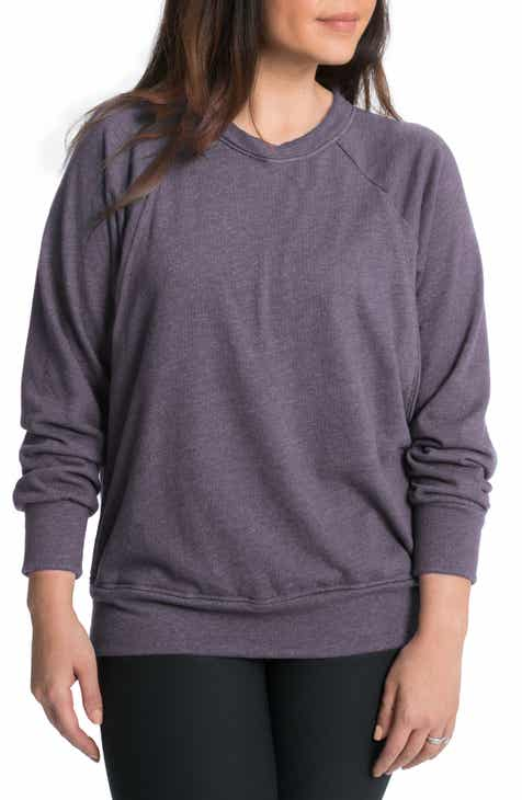 96879d4ca3216 Bun Maternity Relaxed Daily Maternity/Nursing Sweatshirt