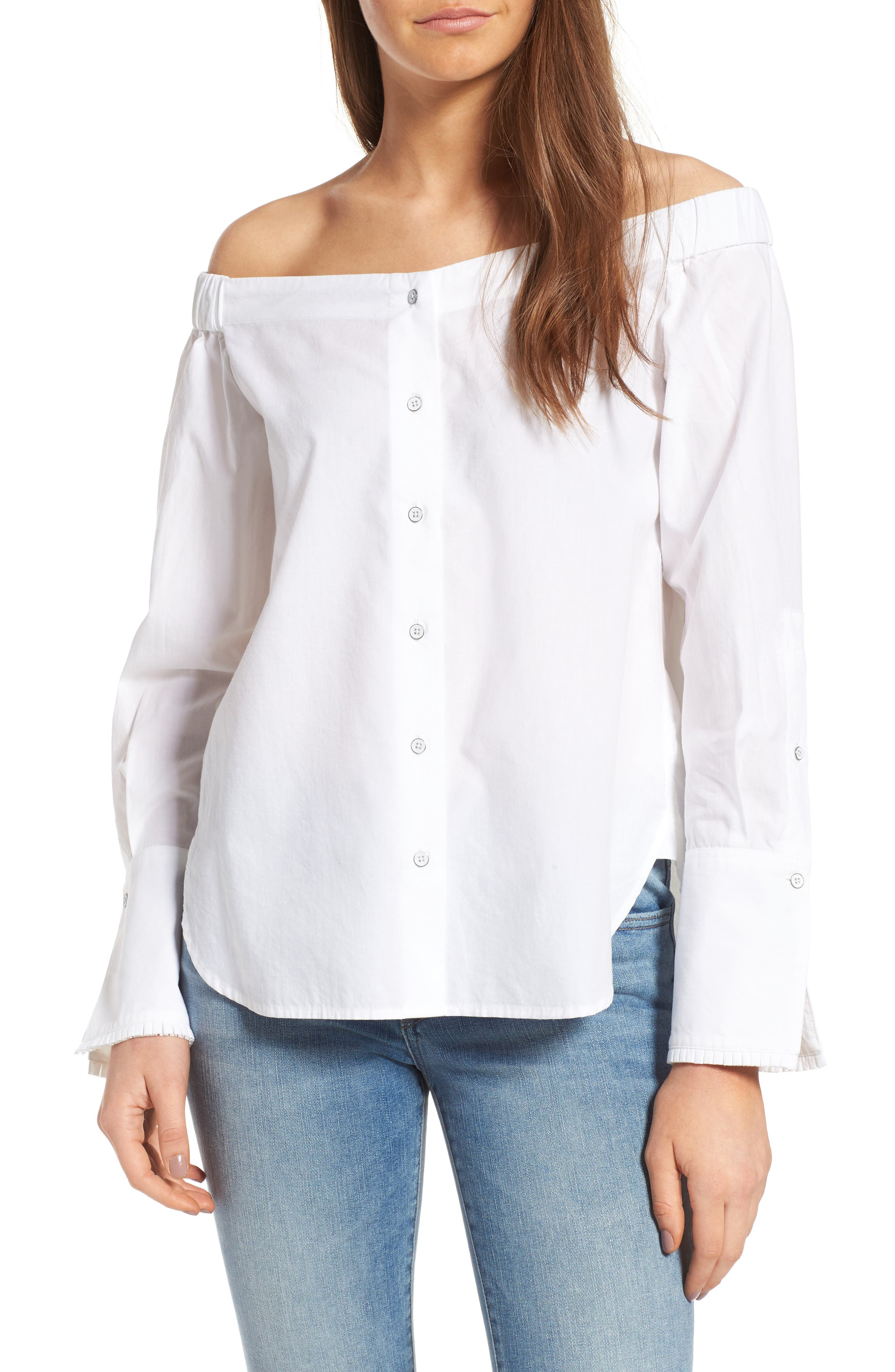 DL1961 East Hampton Off the Shoulder Blouse