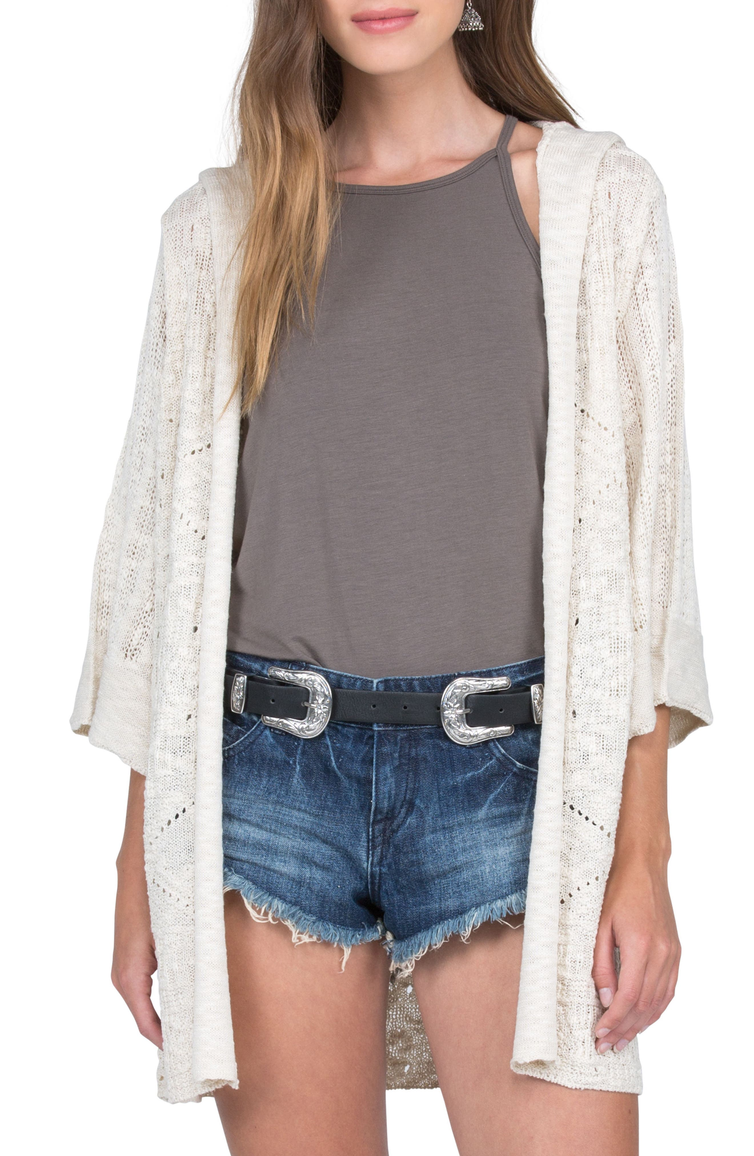 Main Image - Volcom By the Ocean Hooded Cardigan