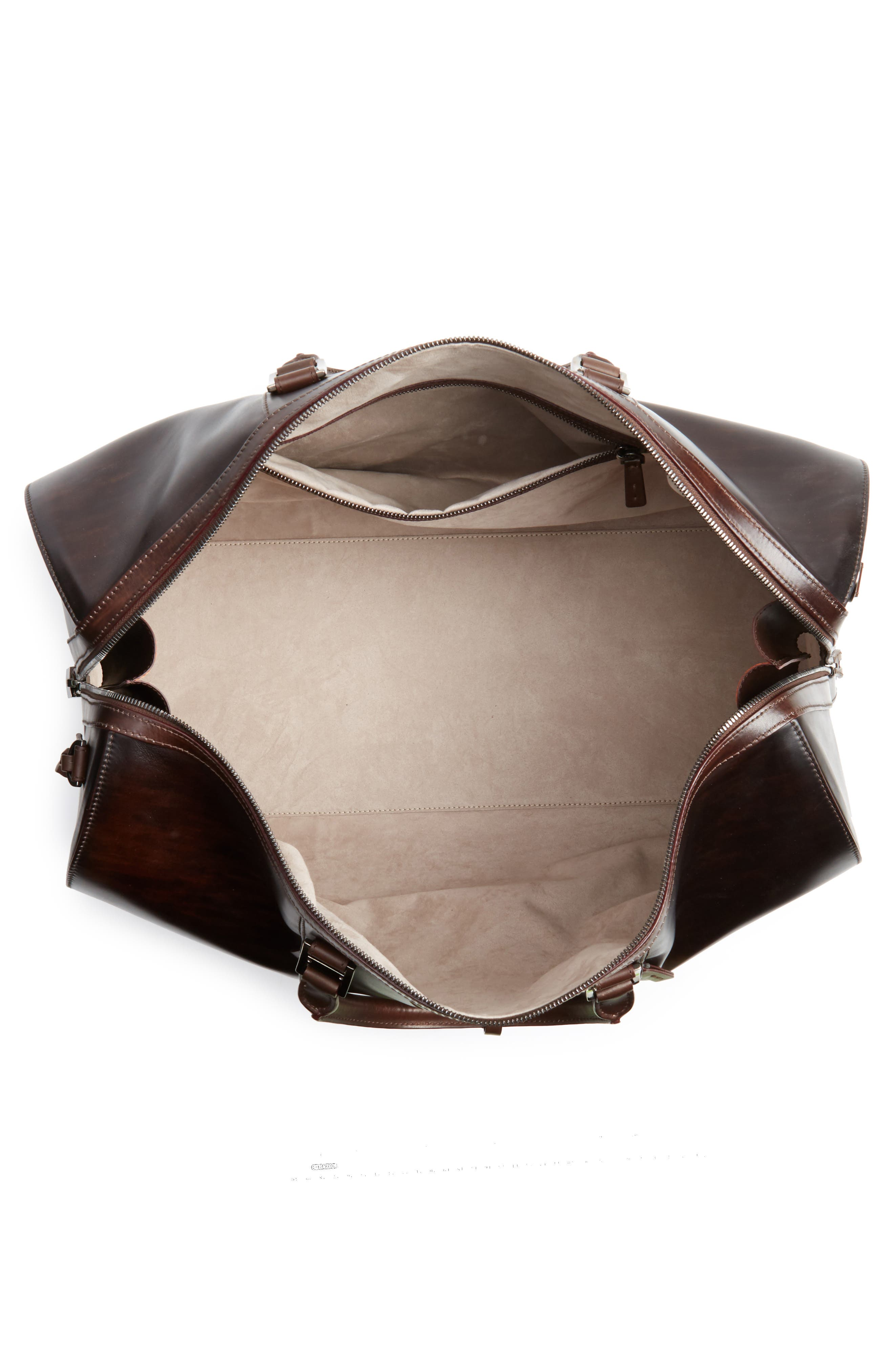Alternate Image 4  - Magnanni Traveler Leather Duffel Bag