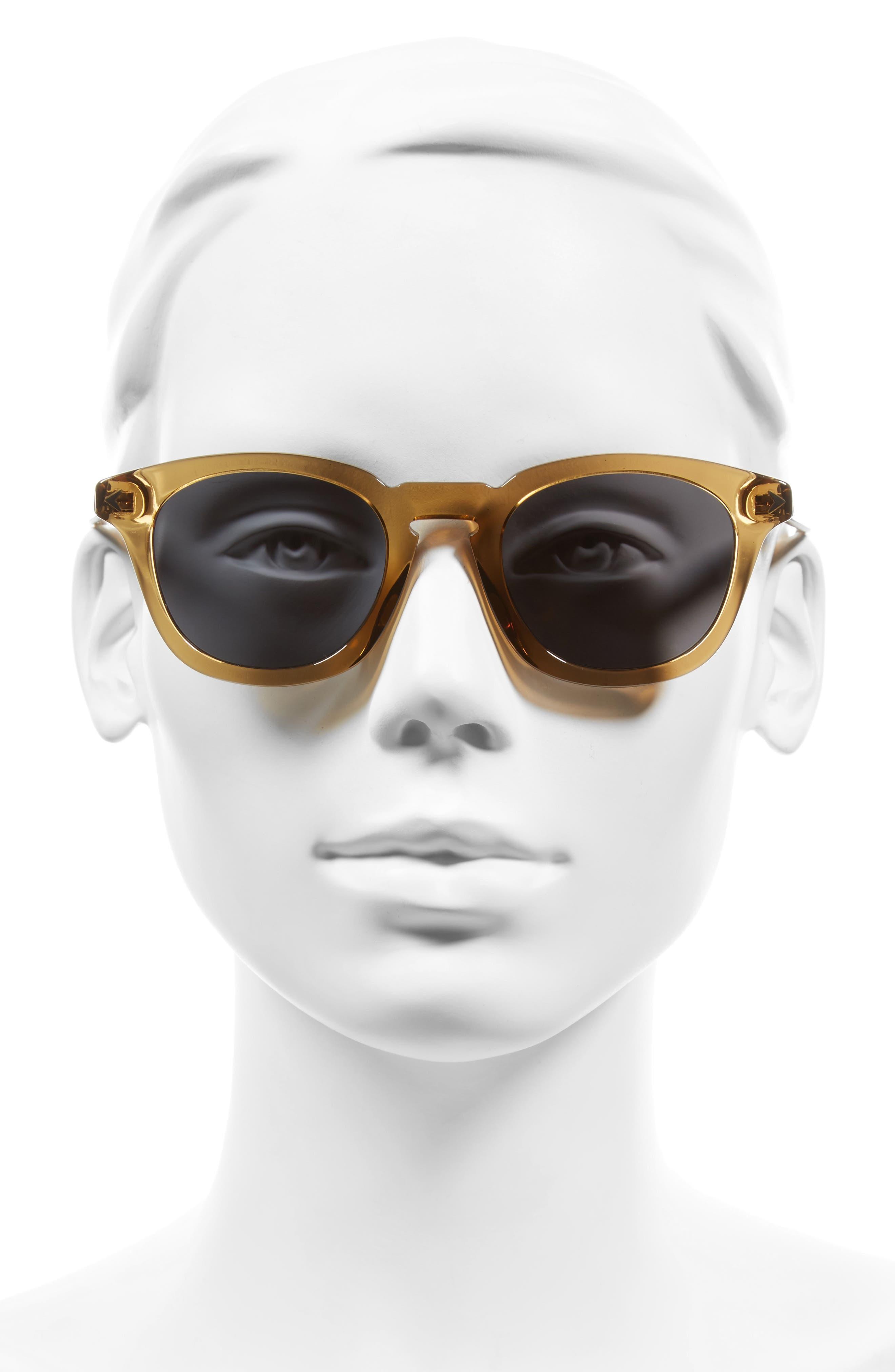 48mm Polarized Sunglasses,                             Alternate thumbnail 2, color,                             Beige