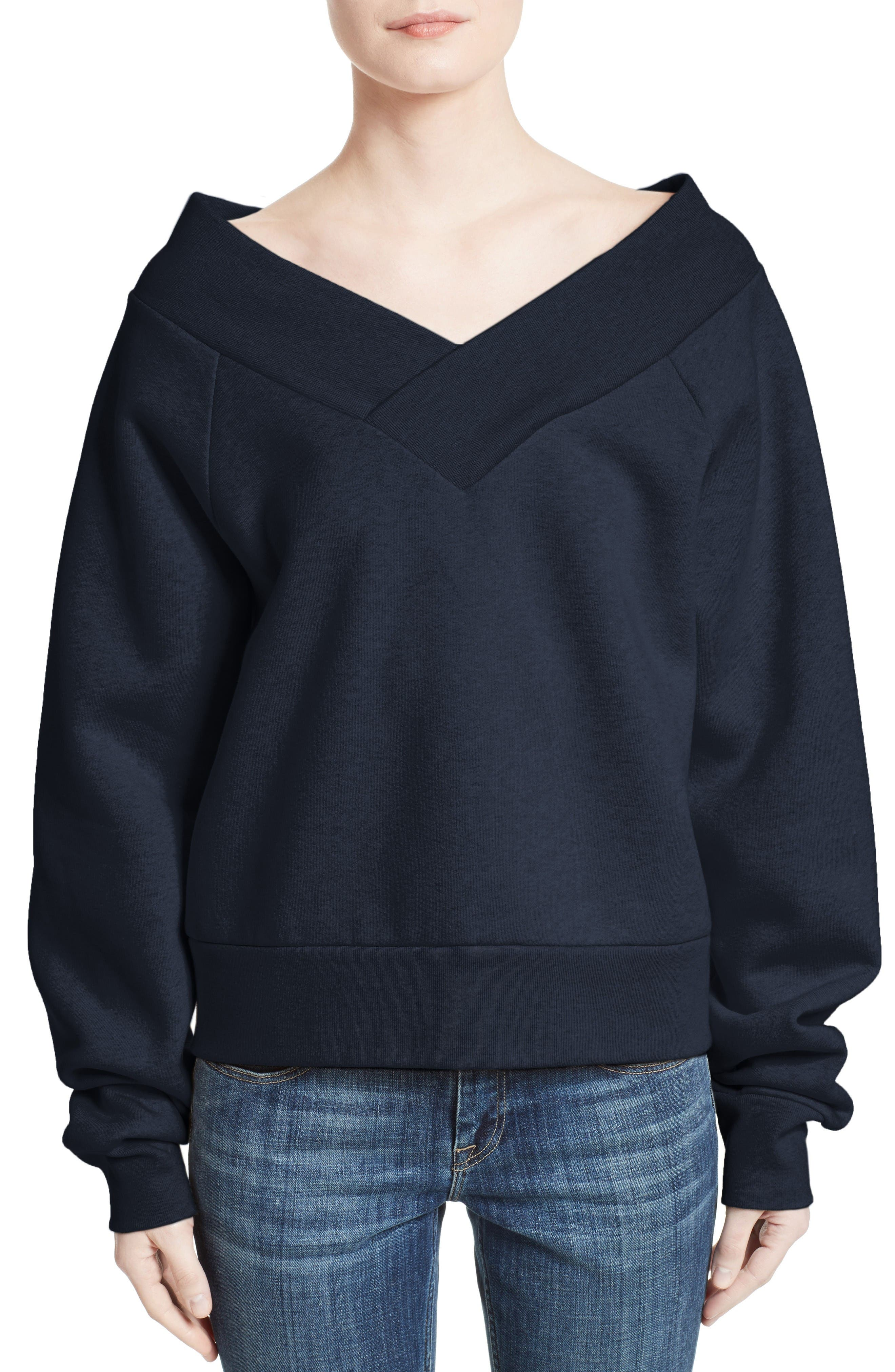 Burberry Falacho V-Neck Sweatshirt