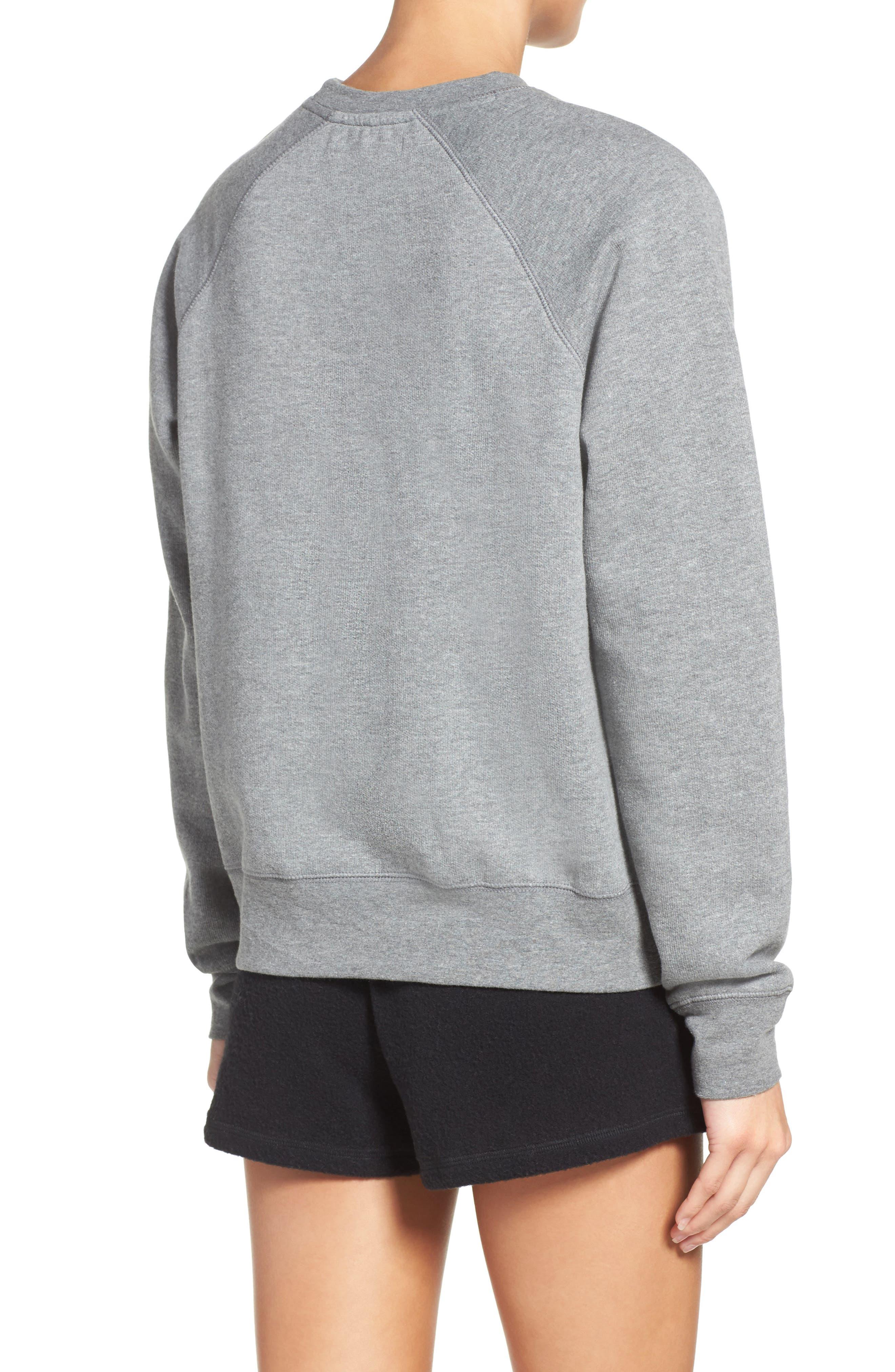 Blonde Crewneck Sweatshirt,                             Alternate thumbnail 2, color,                             Heather Grey