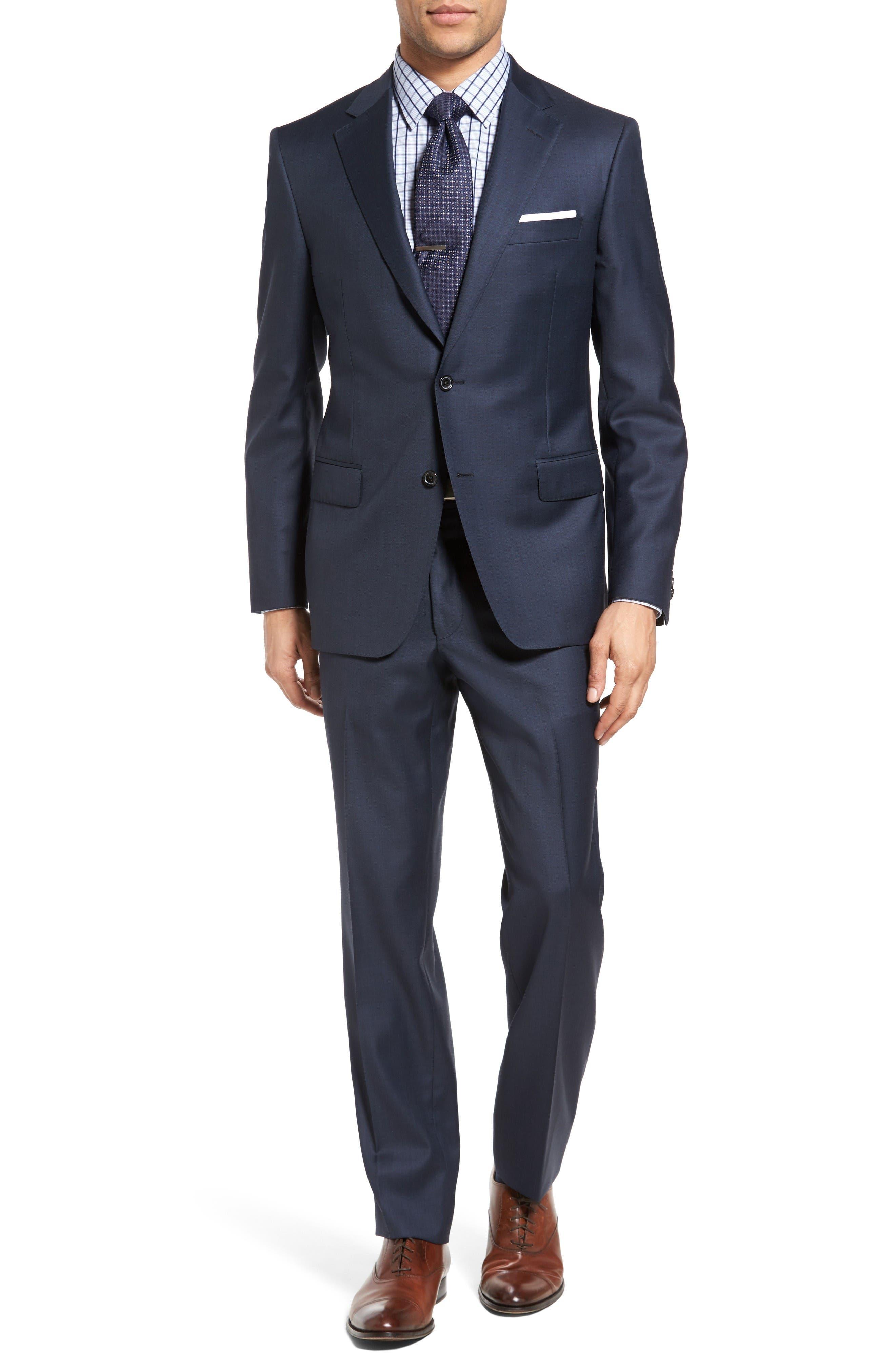 Main Image - Samuelsohn Classic Fit Sharkskin Wool Suit
