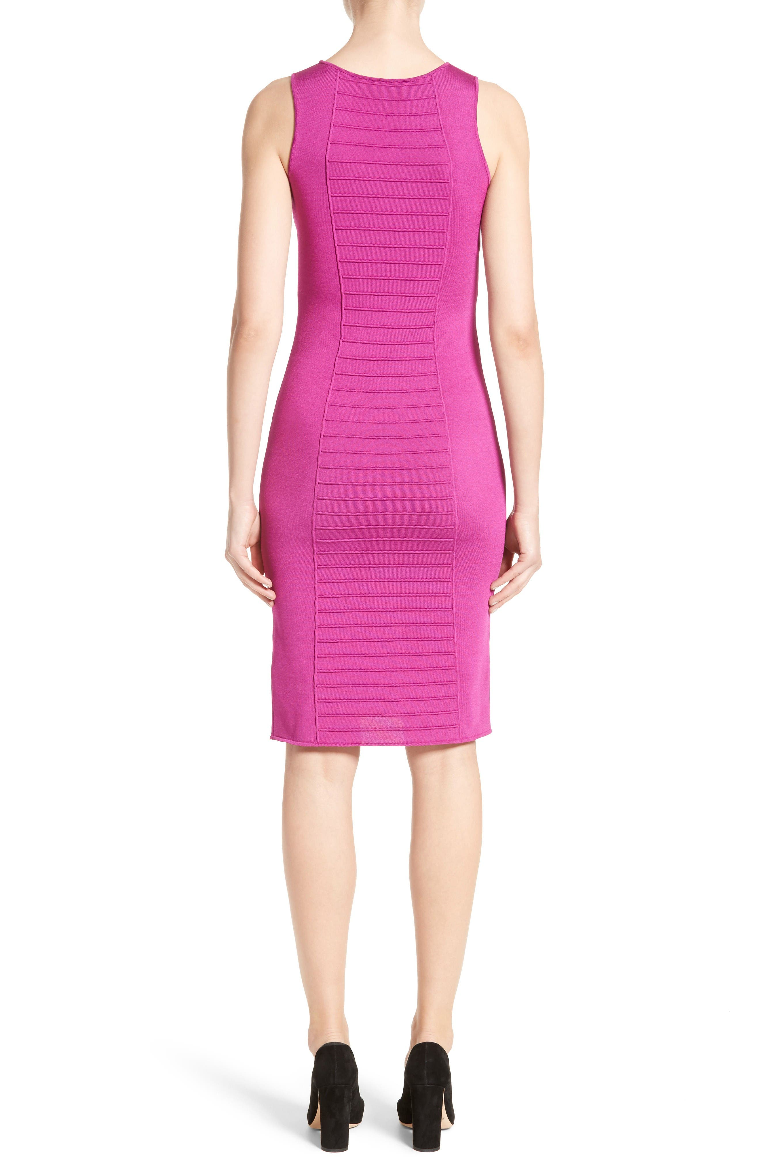 Micro Pipe Knit Dress,                             Alternate thumbnail 2, color,                             Orchid