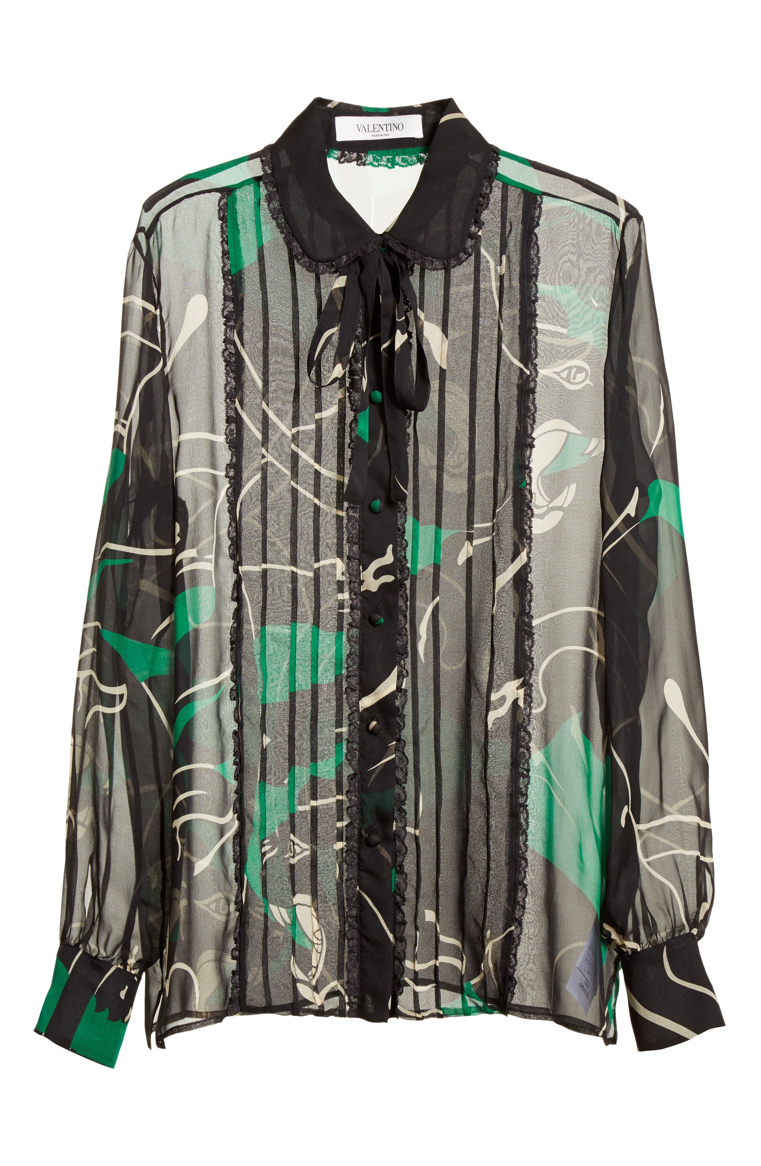Alternate Image 4  - Valentino Panther Print Silk Chiffon Blouse