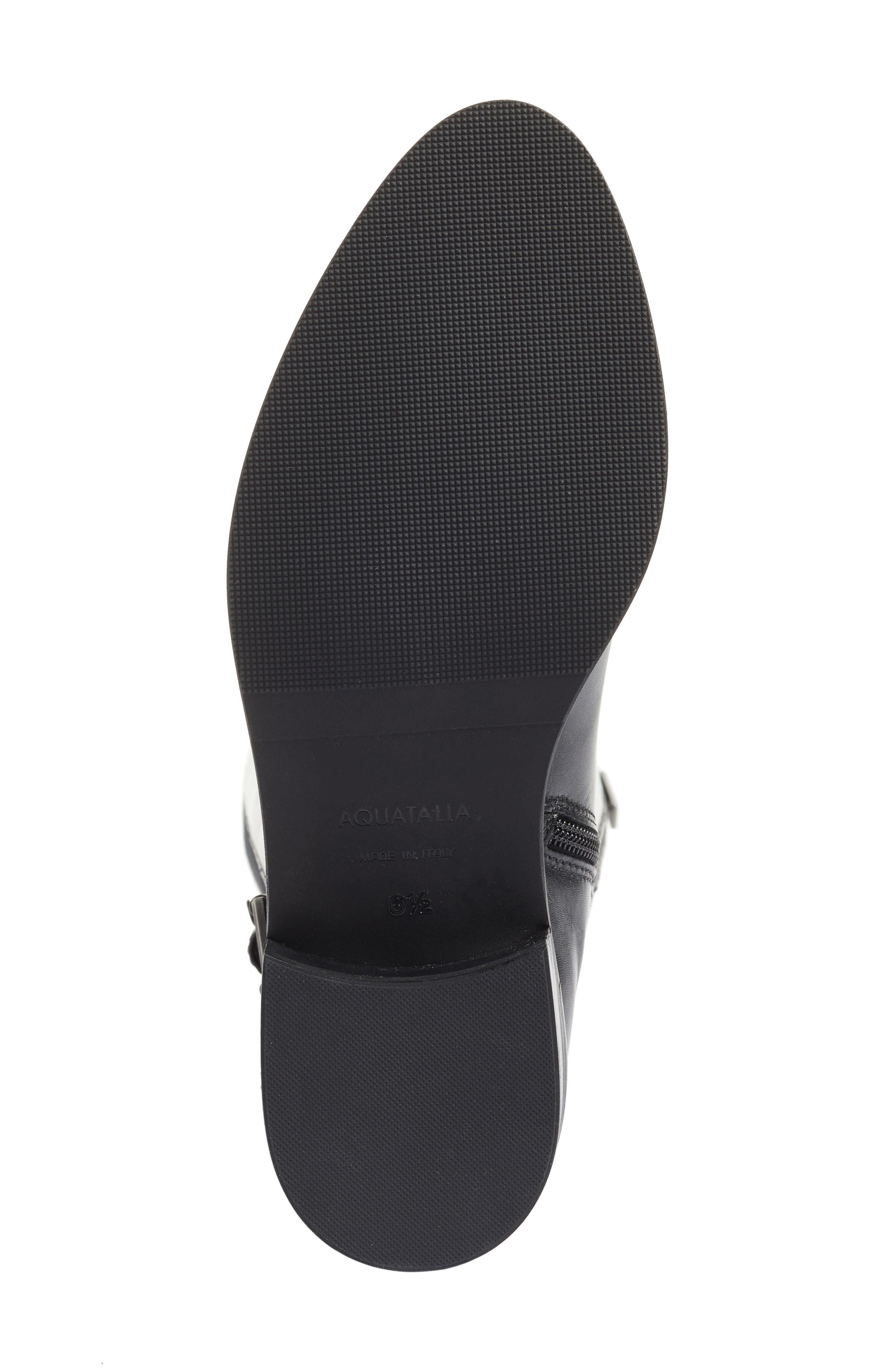 Genna Weatherproof Tall Boot,                             Alternate thumbnail 7, color,                             Black Calf/ Elastic/ Suede