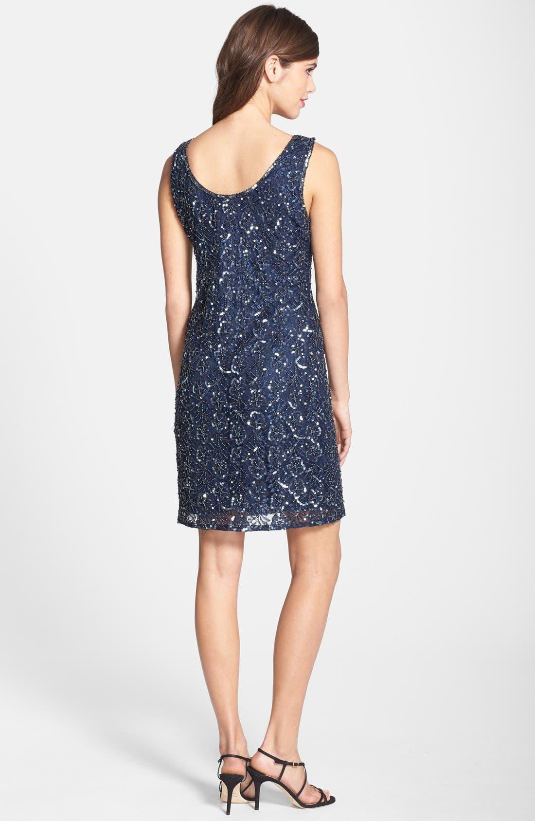 Alternate Image 2  - Pisarro Nights Embellished Mesh A-Line Dress