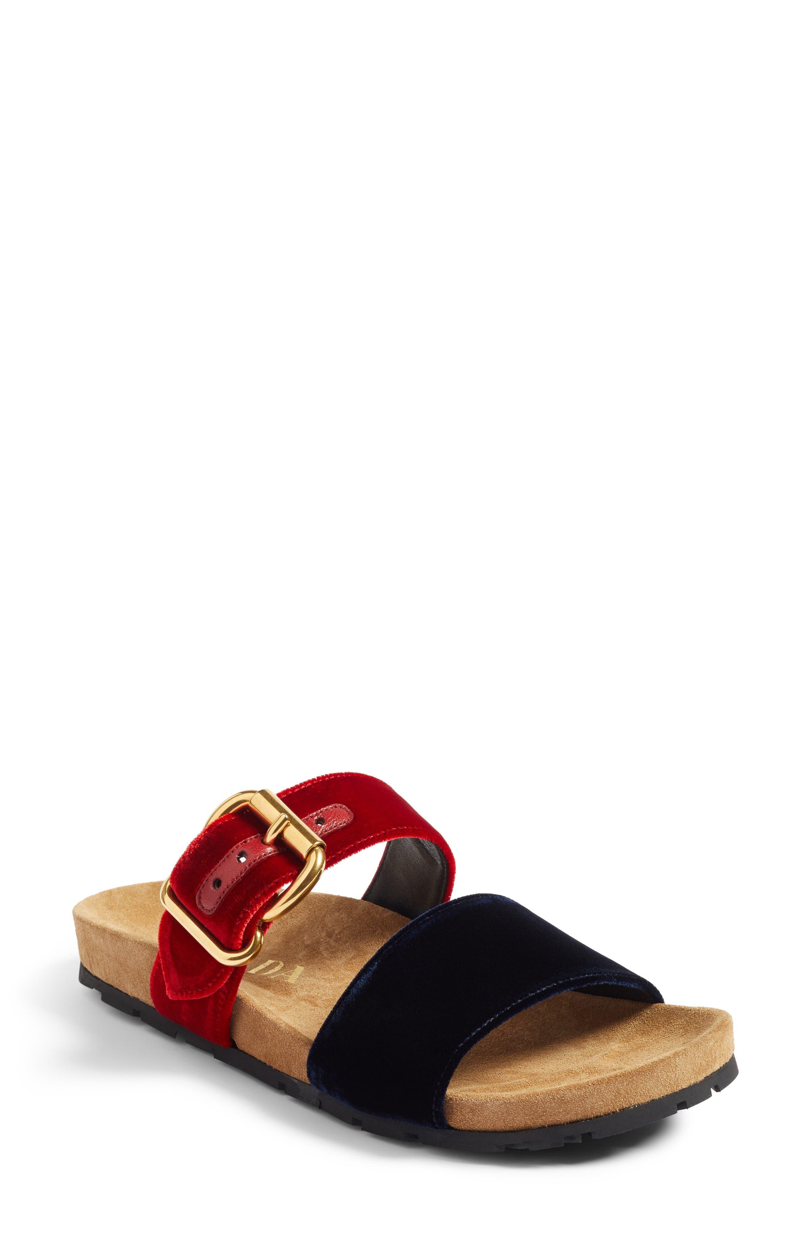 Alternate Image 1 Selected - Prada Double Band Slide Sandal (Women)