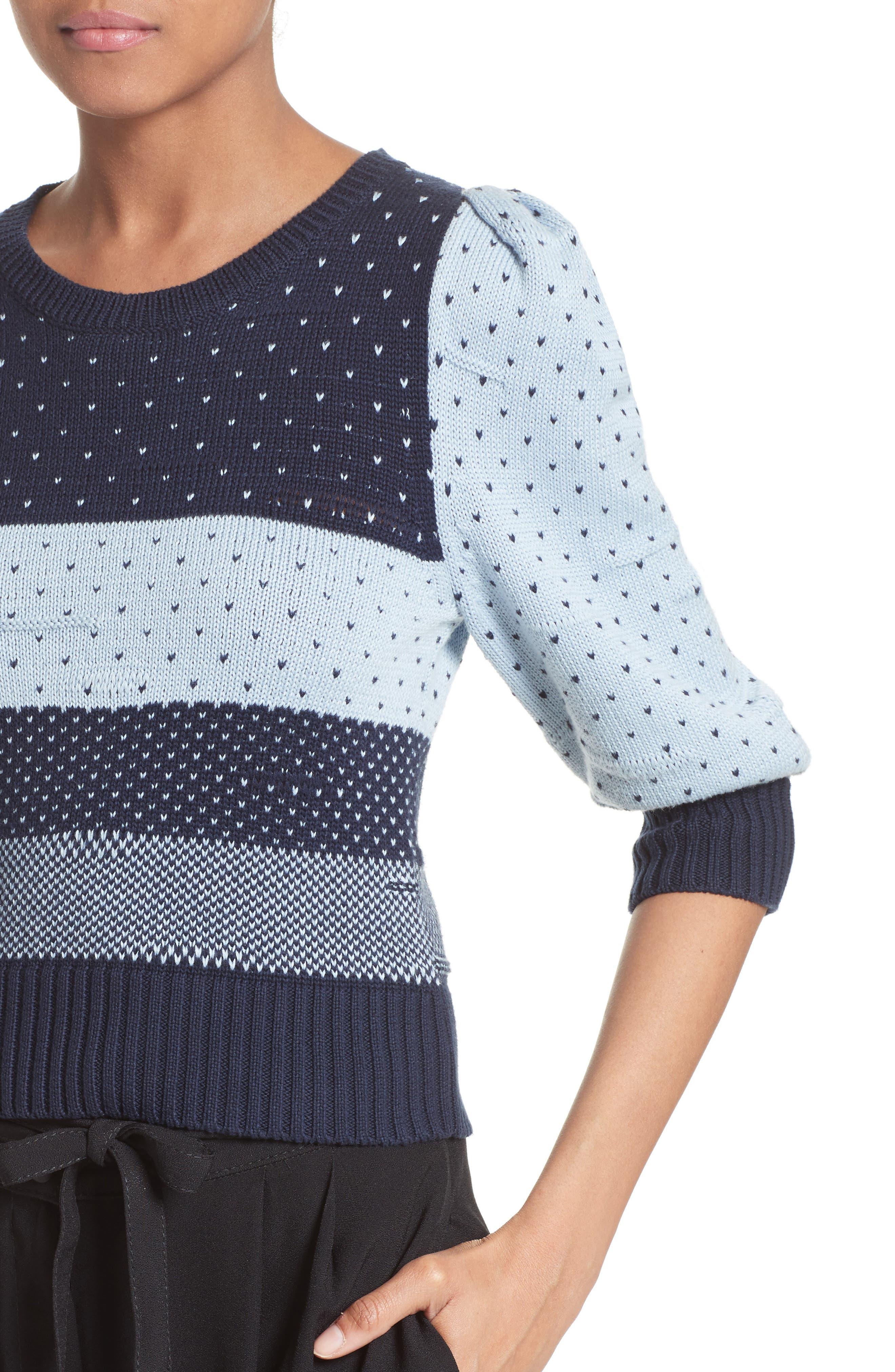 Alternate Image 6  - MARC JACOBS Cotton Jacquard Sweater