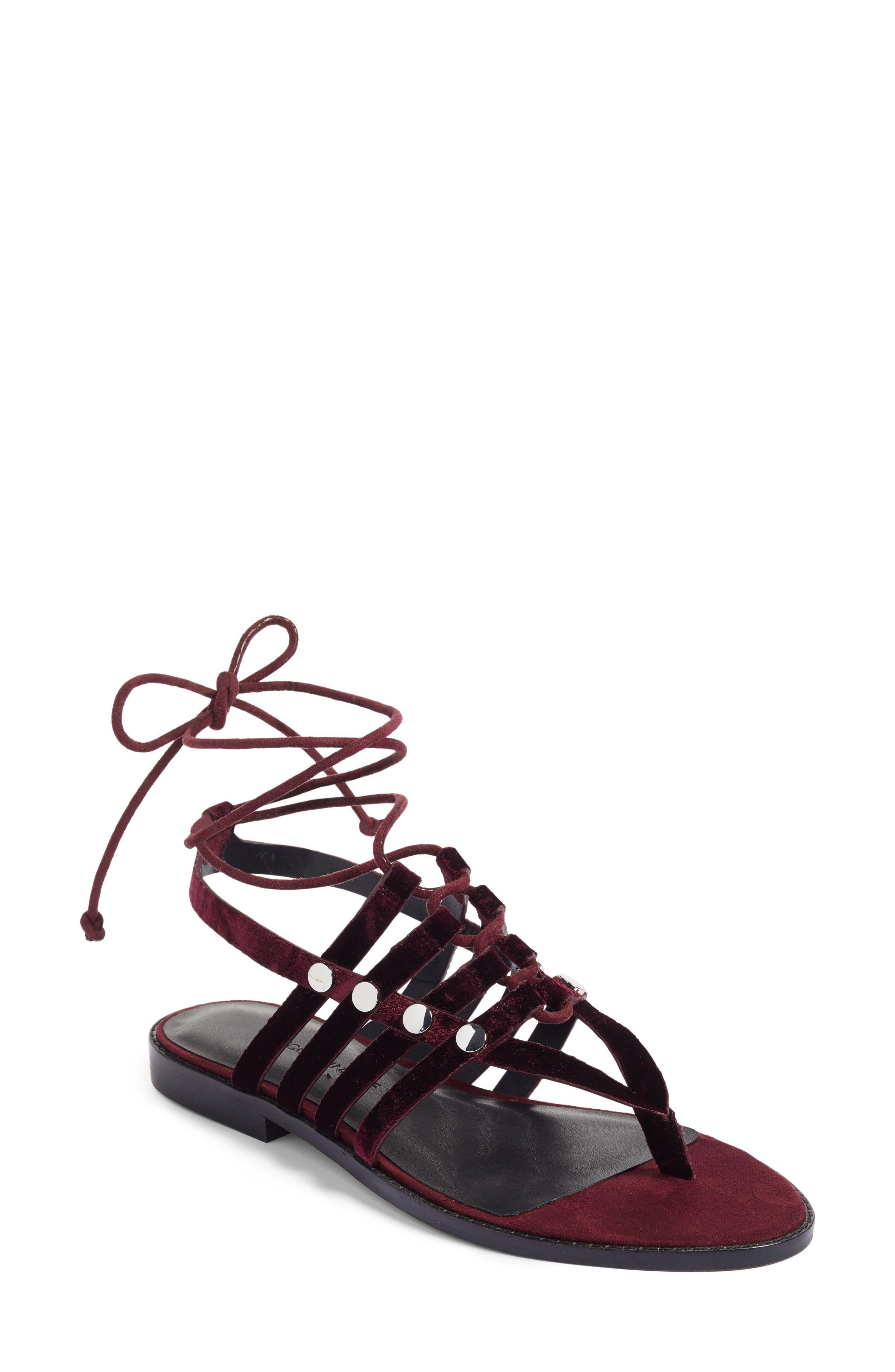 Evonne Sandal,                         Main,                         color, Acai Velvet