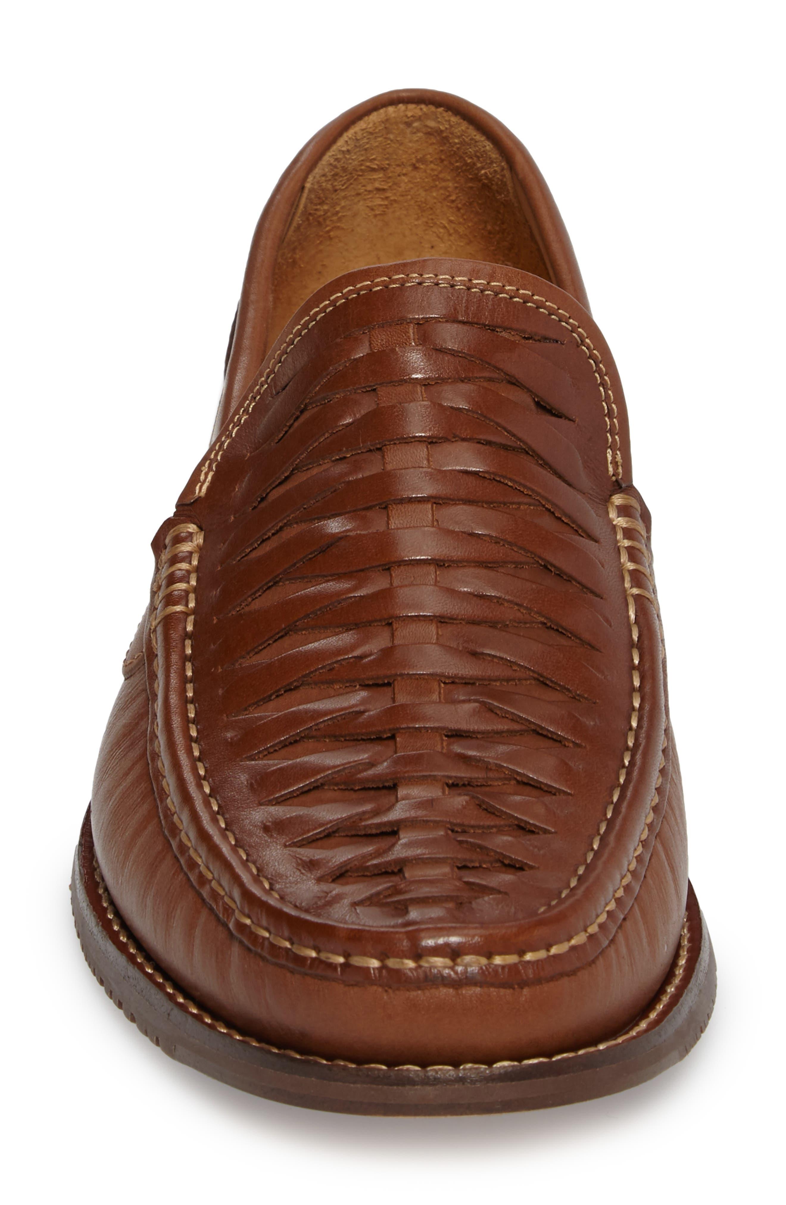 Fynn Loafer,                             Alternate thumbnail 4, color,                             Saddle Brown Leather