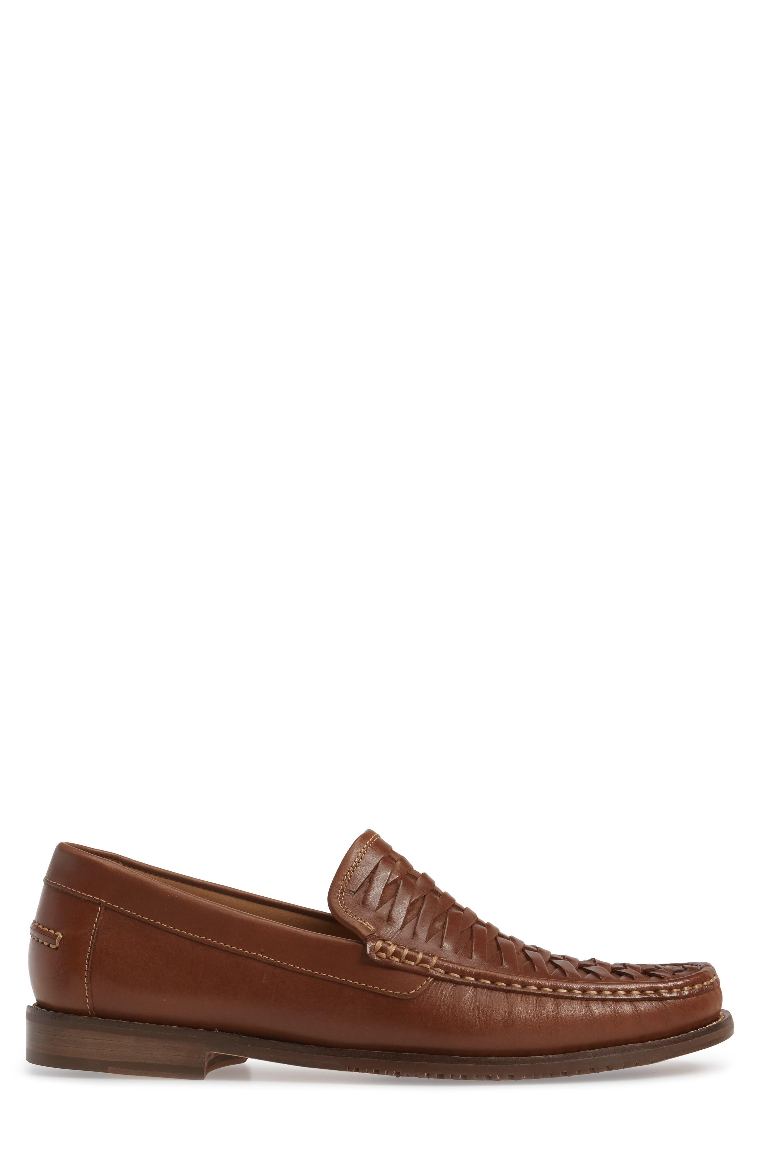 Fynn Loafer,                             Alternate thumbnail 3, color,                             Saddle Brown Leather