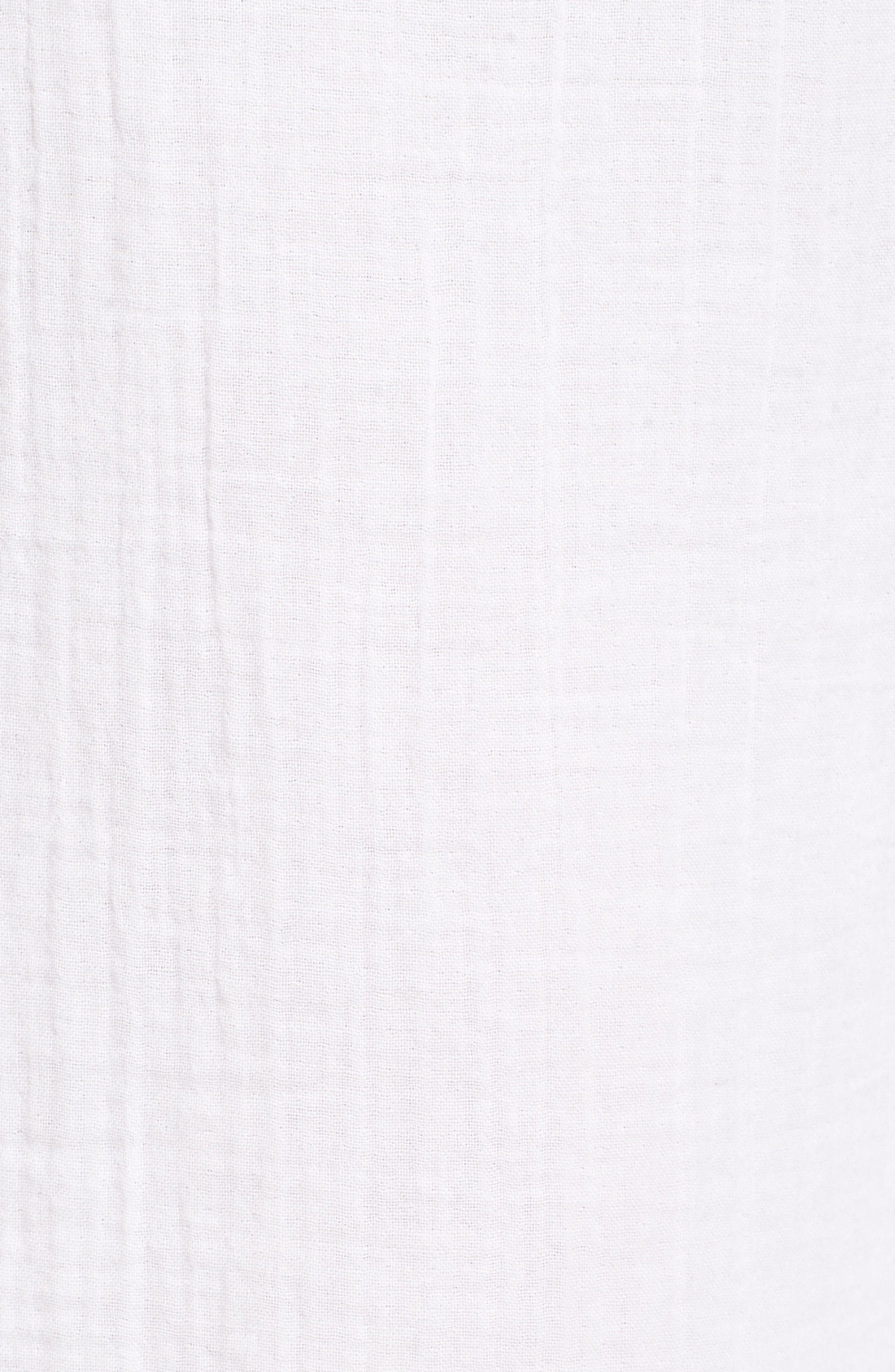 Organic Cotton Crop Pants,                             Alternate thumbnail 5, color,                             White