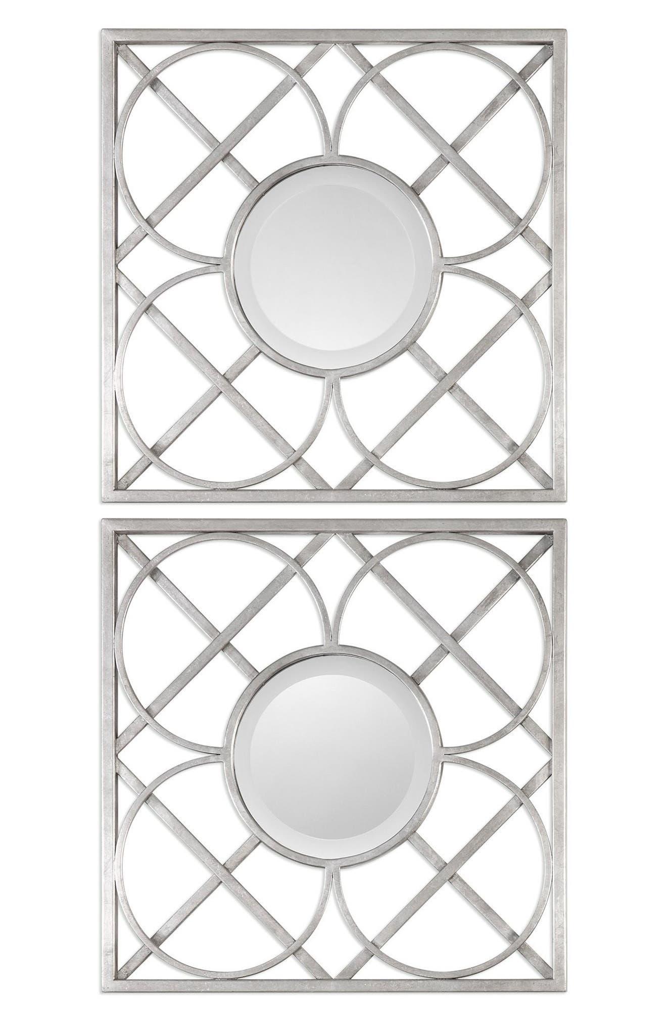 Uttermost Yasmina Set Of 2 Square Frame Wall Mirrors