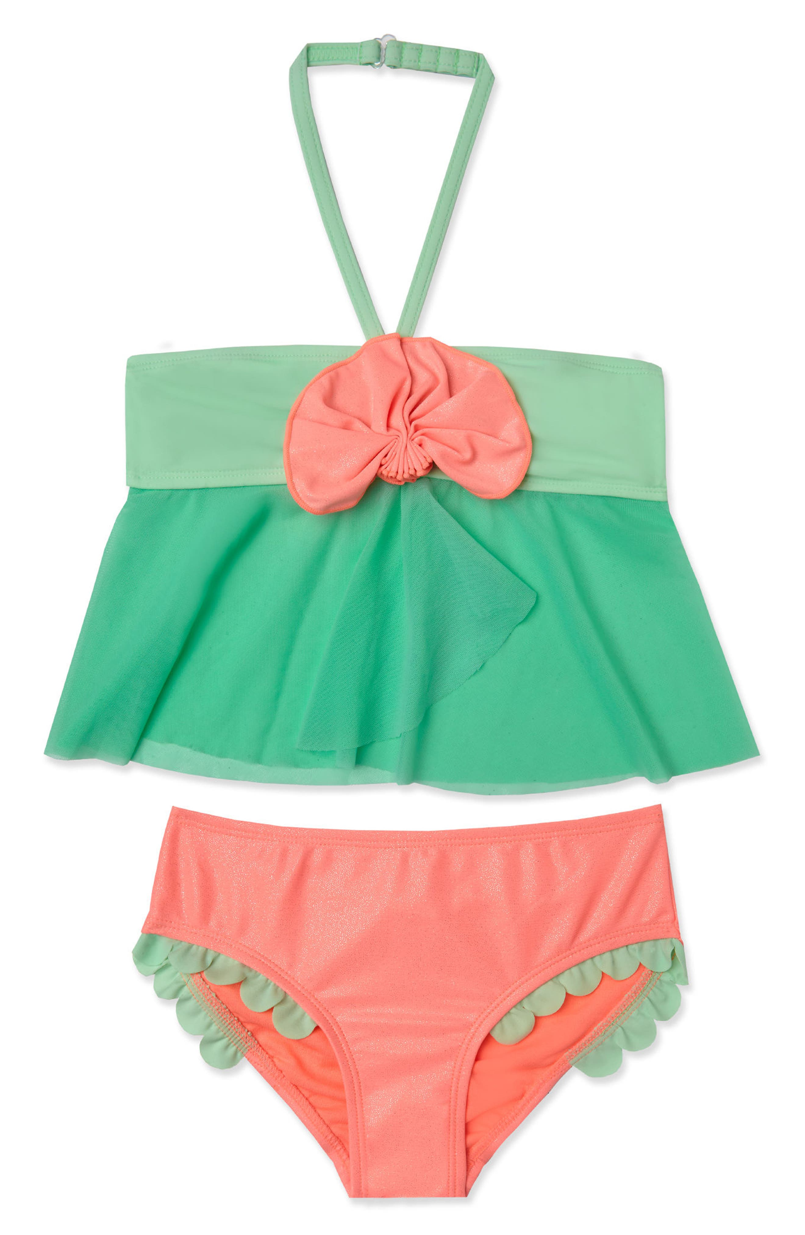 Hula Star Mermaid Scallop Two-Piece Swimsuit (Toddler Girls & Little Girls)