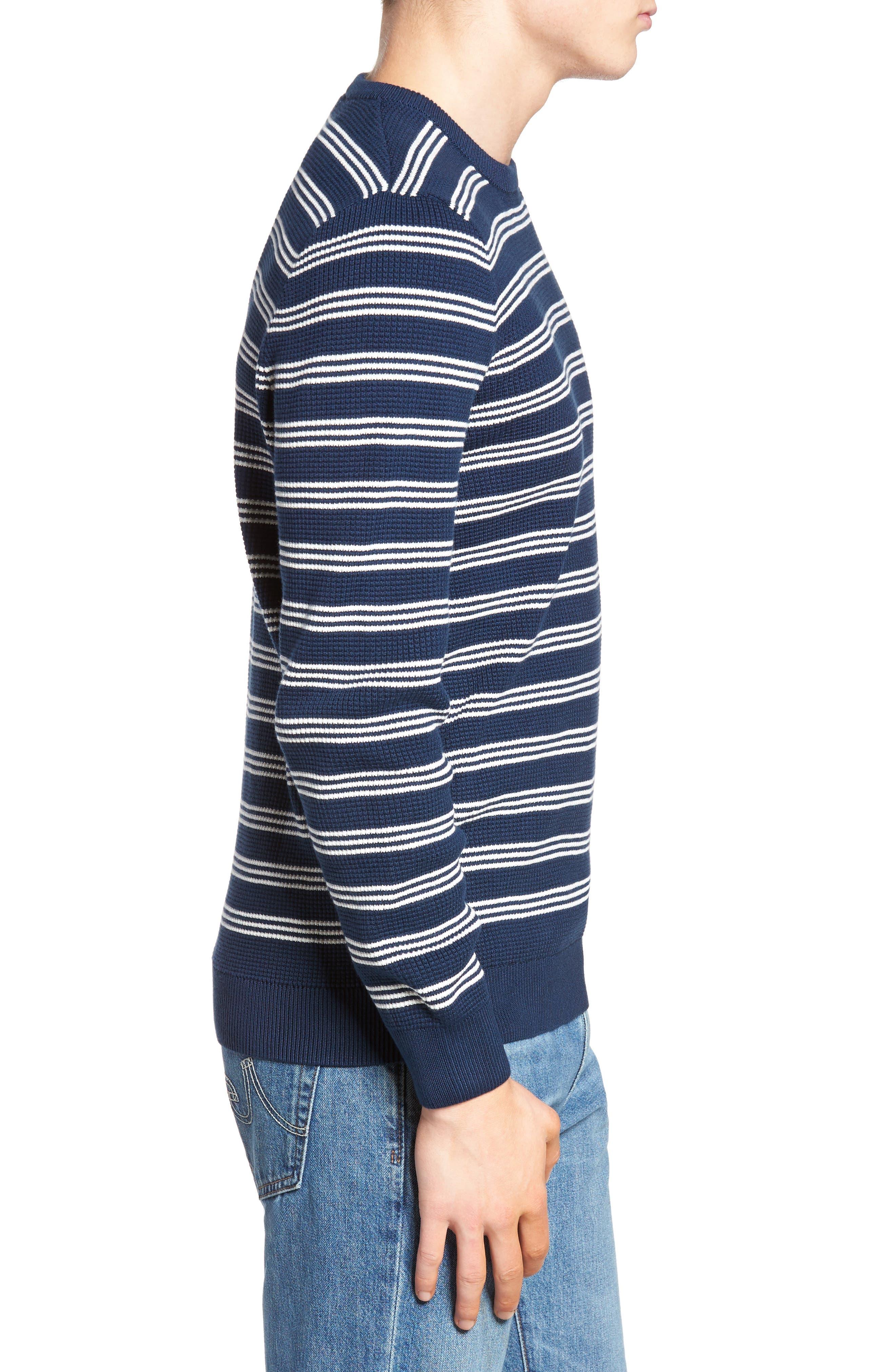Alternate Image 3  - Lacoste Waffle Stitch Stripe Sweater