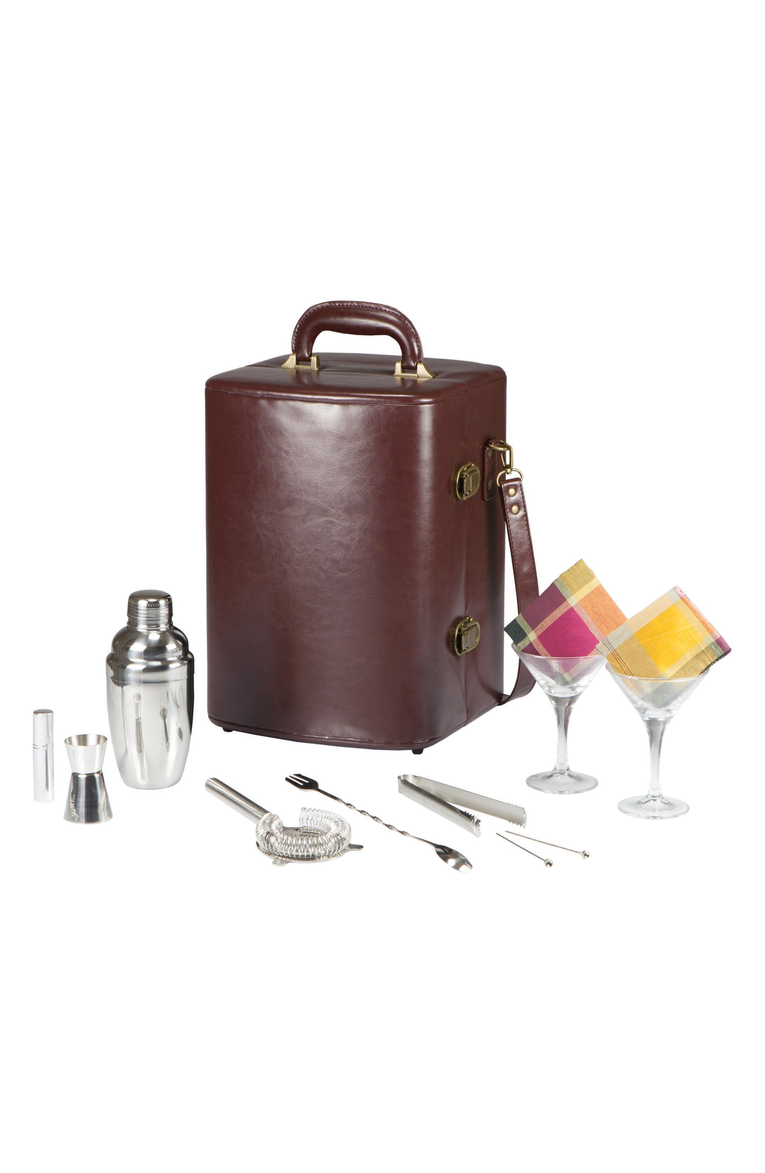 Manhattan Cocktail Case,                         Main,                         color, Brown