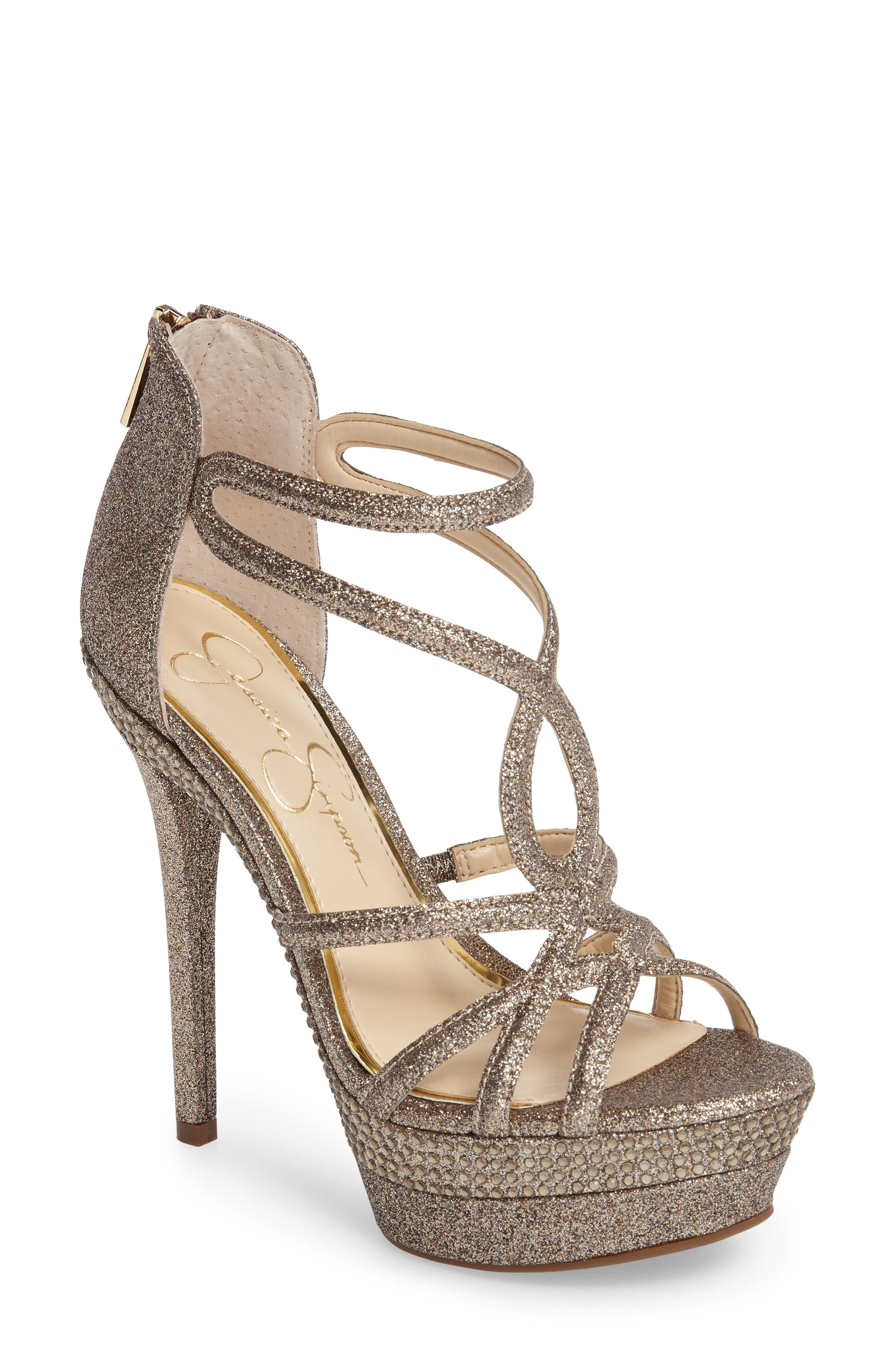 Rozmari Platform Sandal,                             Main thumbnail 1, color,                             Soft Gold