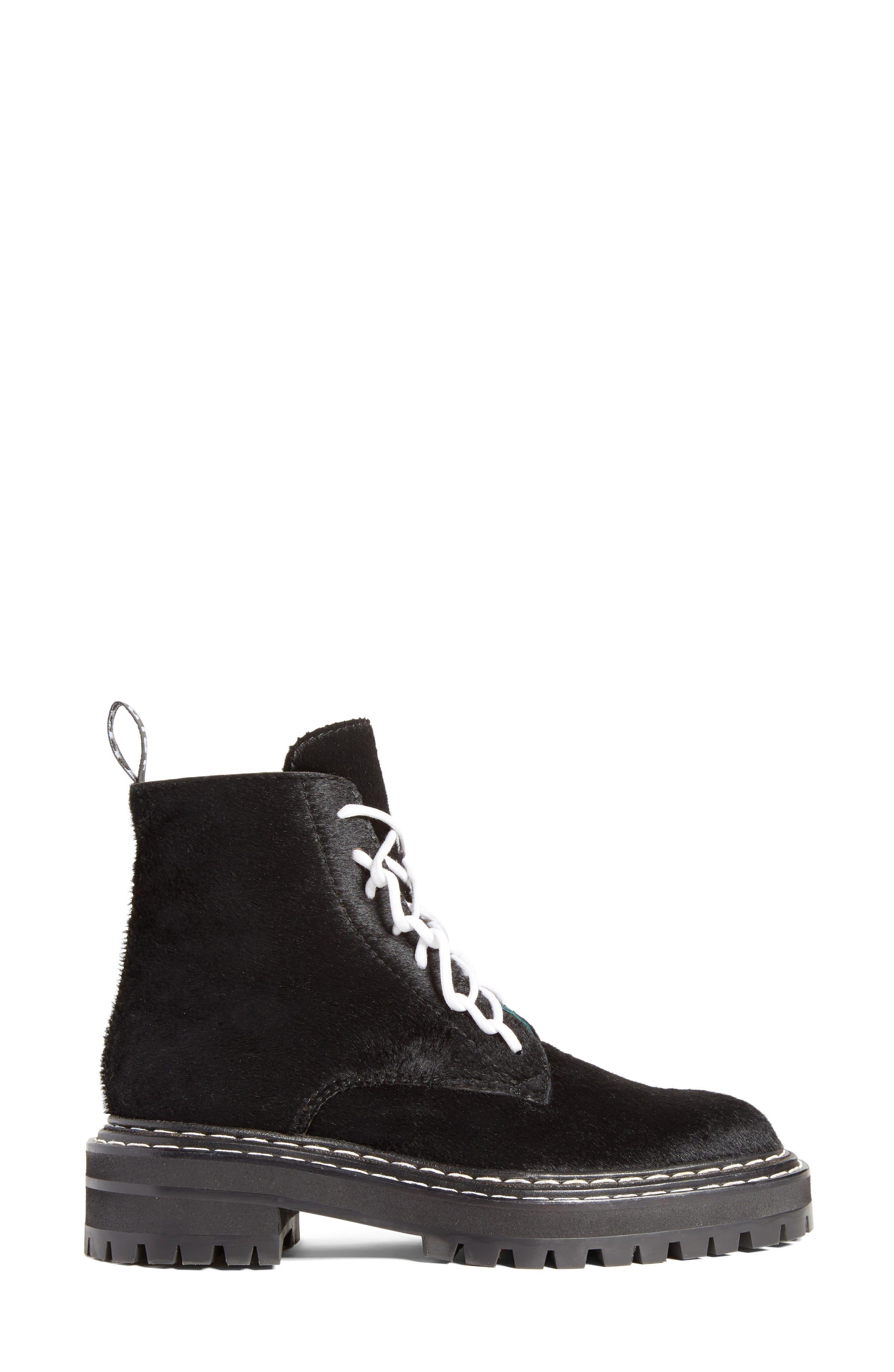 Combat Boot,                             Alternate thumbnail 3, color,                             Black
