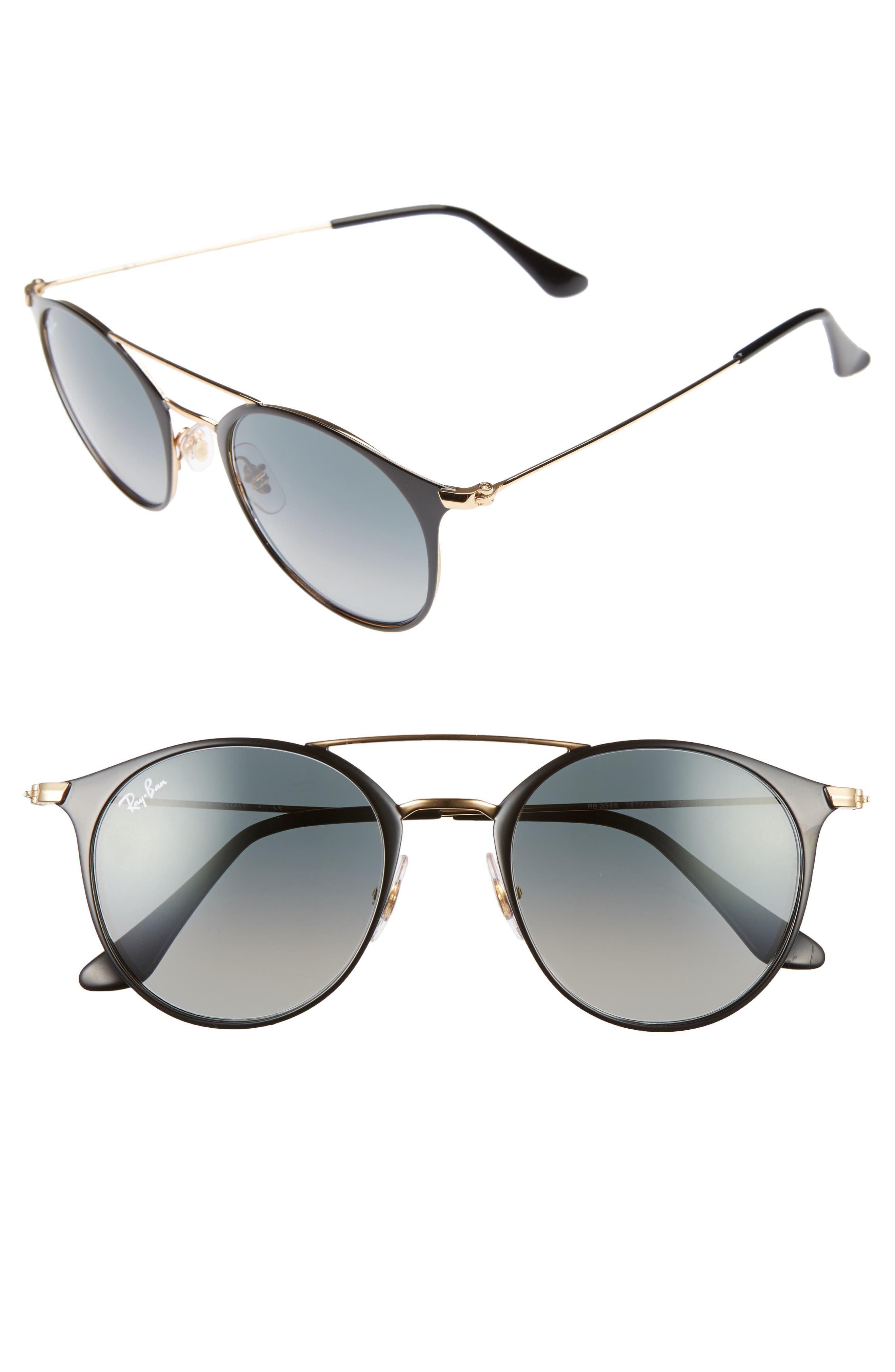 Ray-Ban 49mm Gradient Round Sunglasses