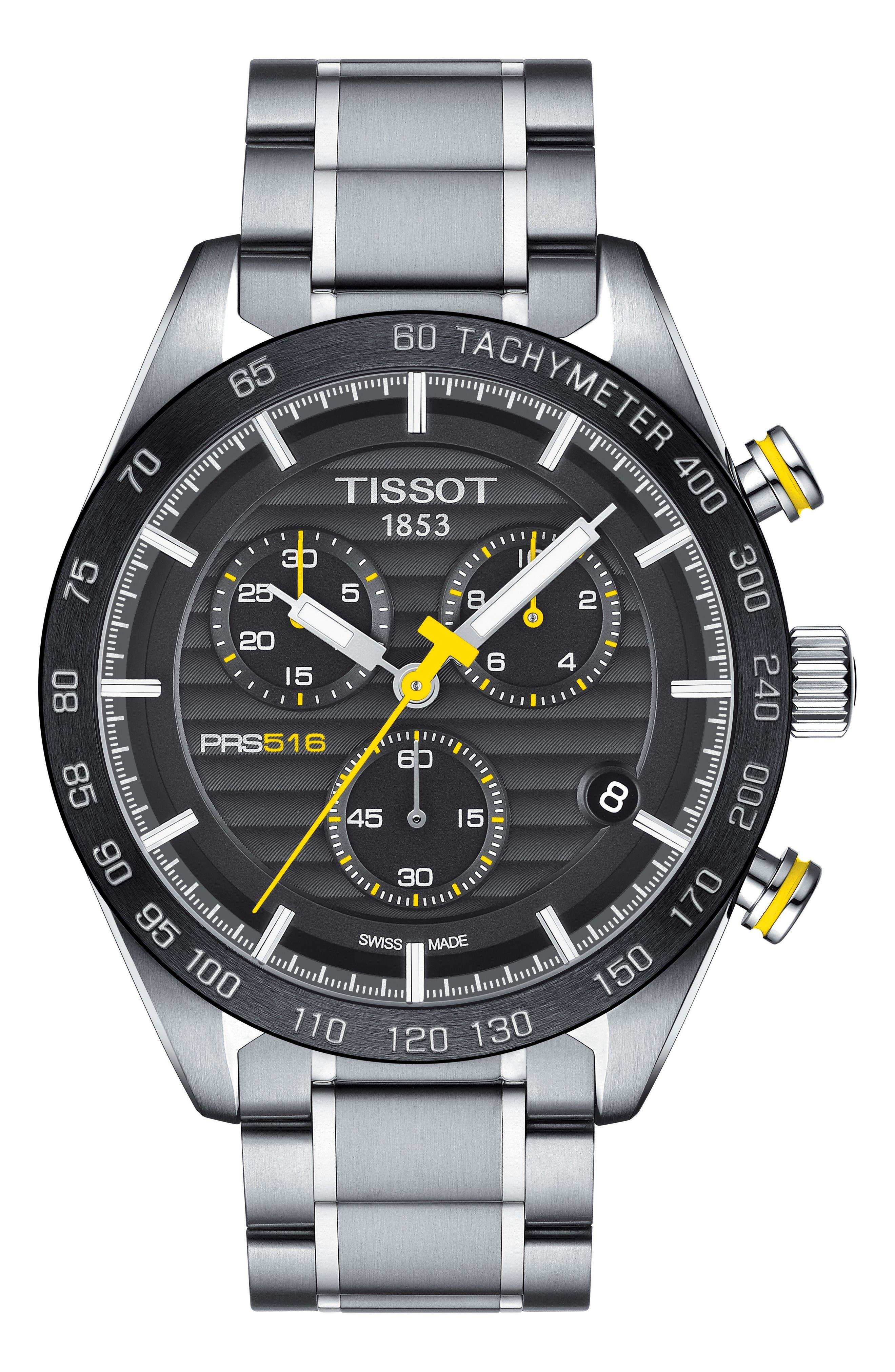 Alternate Image 1 Selected - Tissot PRS516 Chronograph Bracelet Watch, 42mm