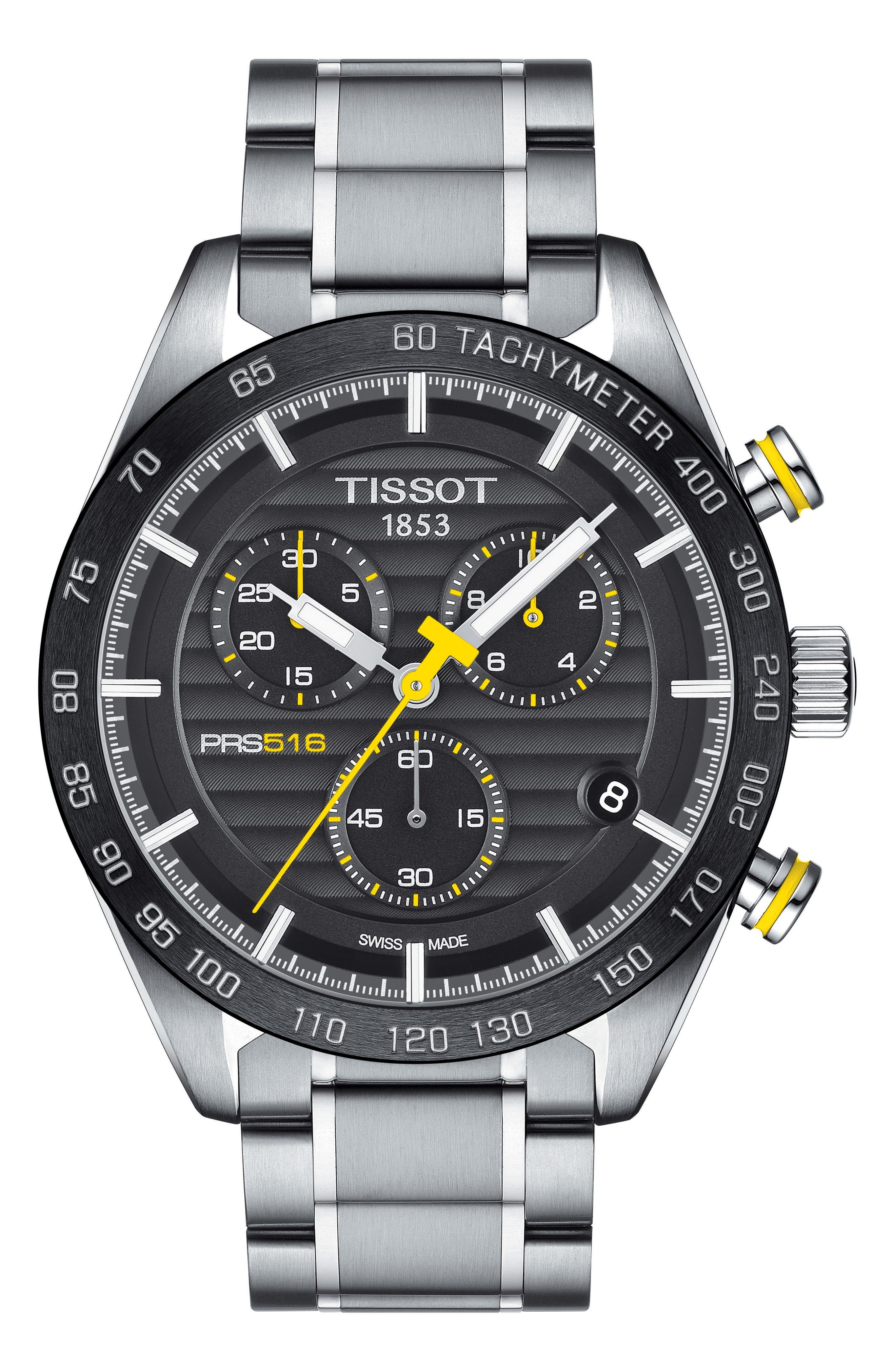 Main Image - Tissot PRS516 Chronograph Bracelet Watch, 42mm