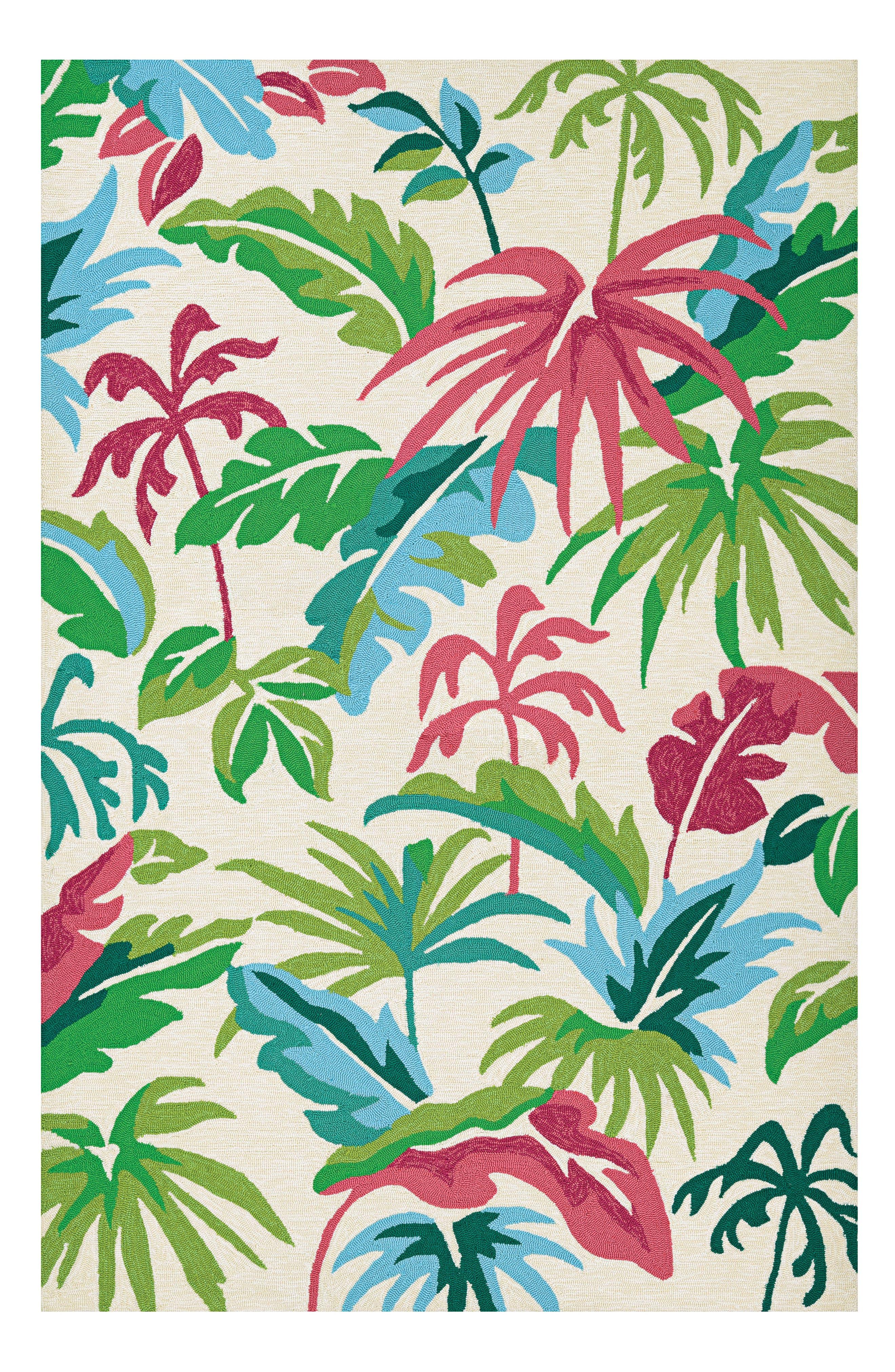 Fiji Indoor/Outdoor Rug,                         Main,                         color, Pink/ Green/ Multi