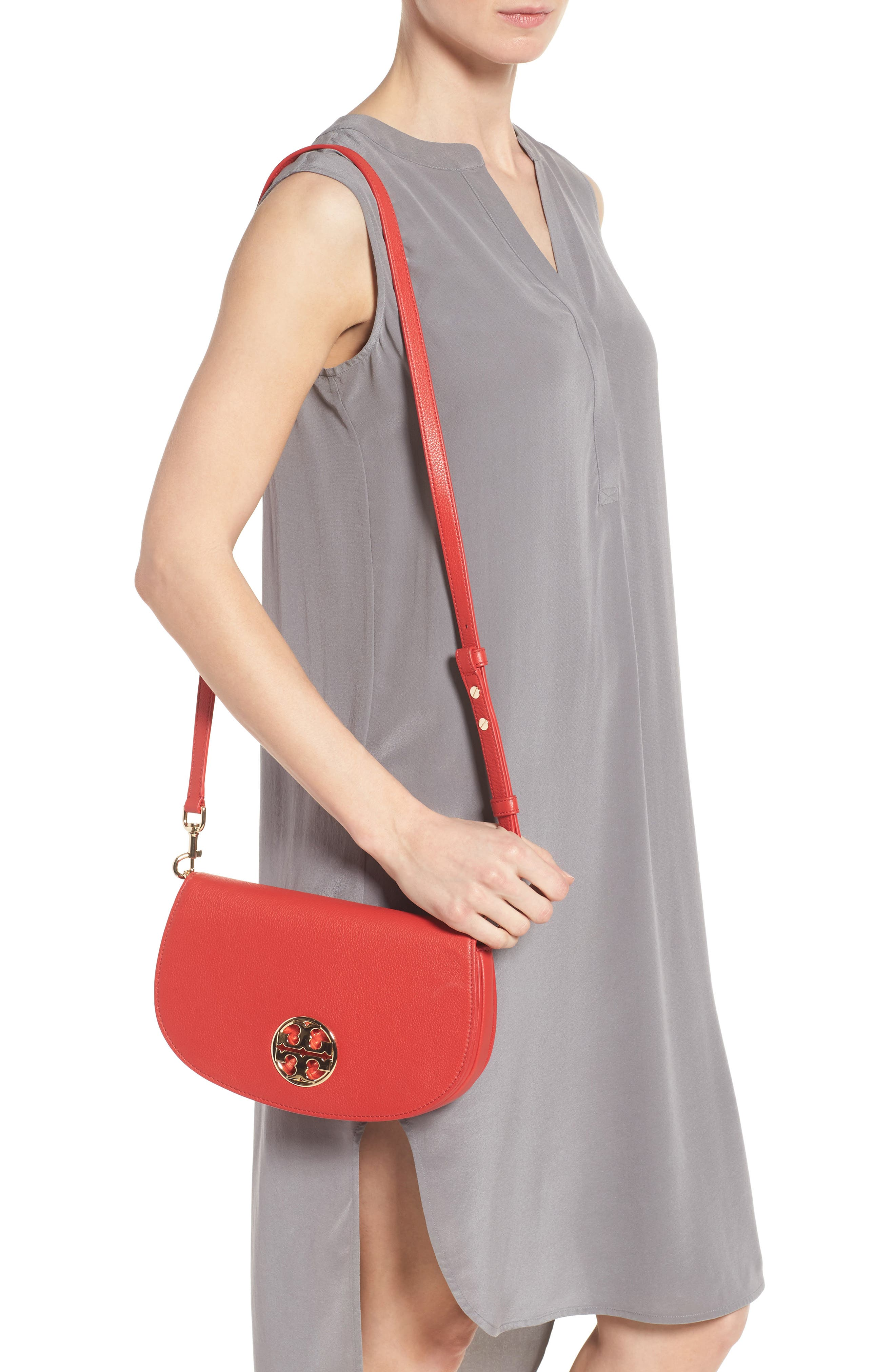 Alternate Image 2  - Tory Burch Jamie Convertible Leather Clutch