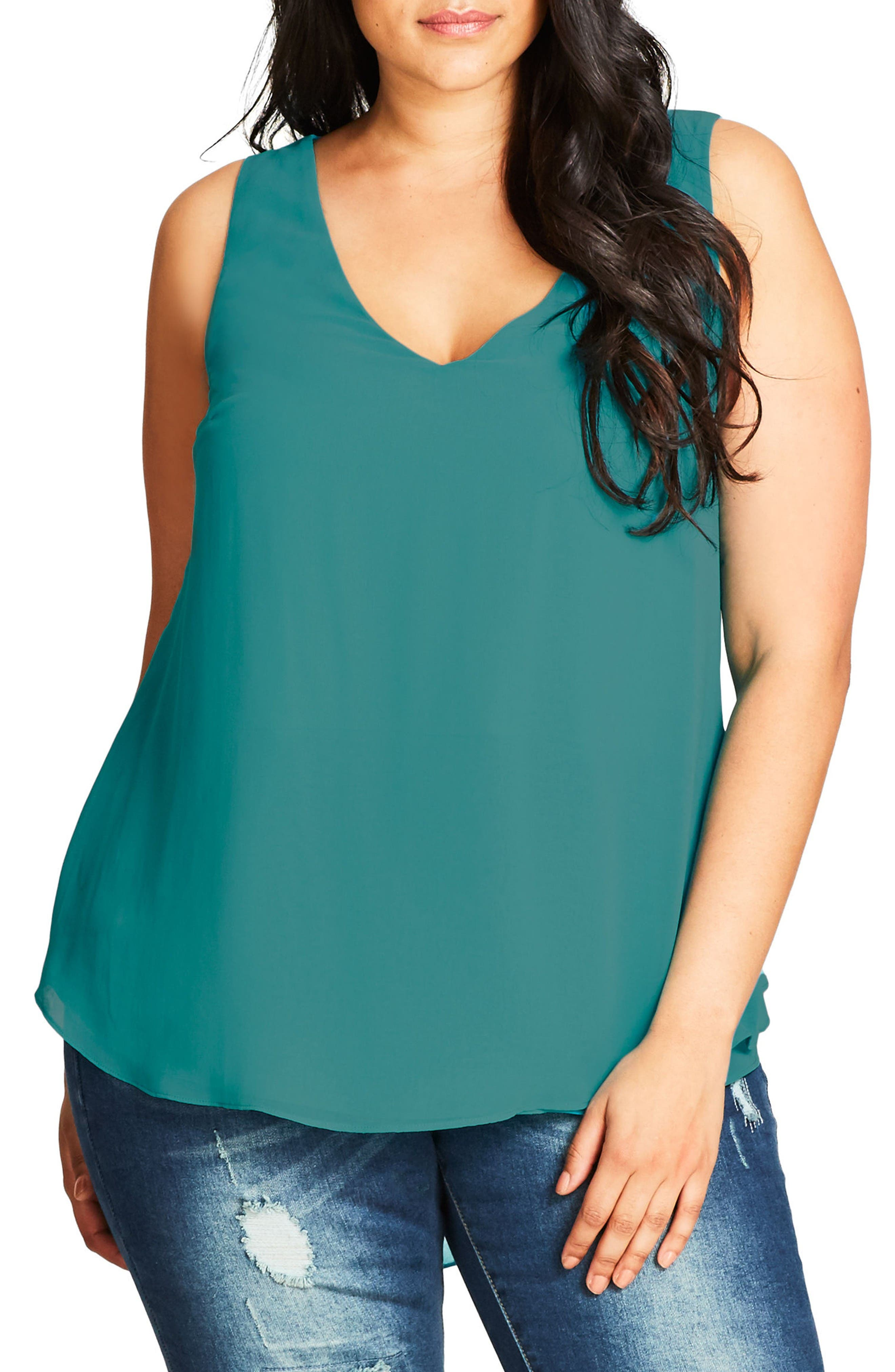 City Chic Date Night Top (Plus Size)