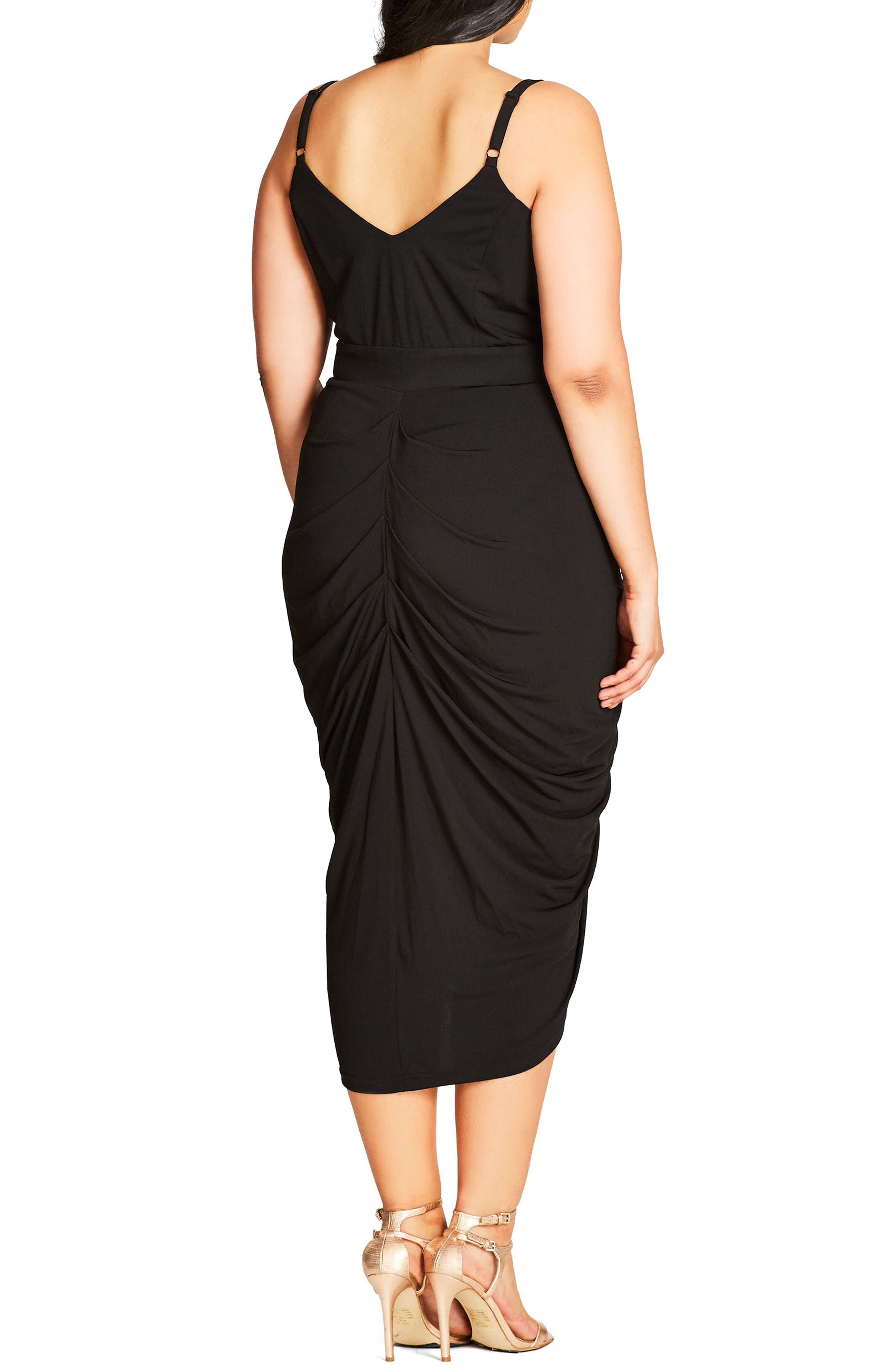 Alternate Image 2  - City Chic Zip Front Body-Con Dress (Plus Size)
