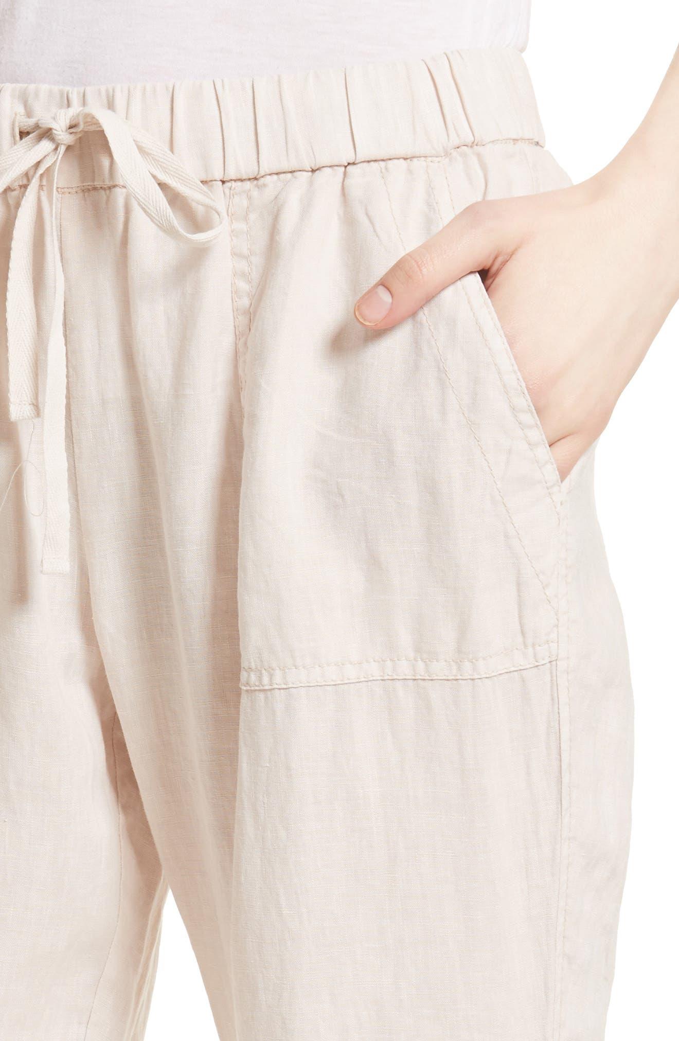 Cyntia Linen Pants,                             Alternate thumbnail 4, color,                             Smokey Quartz